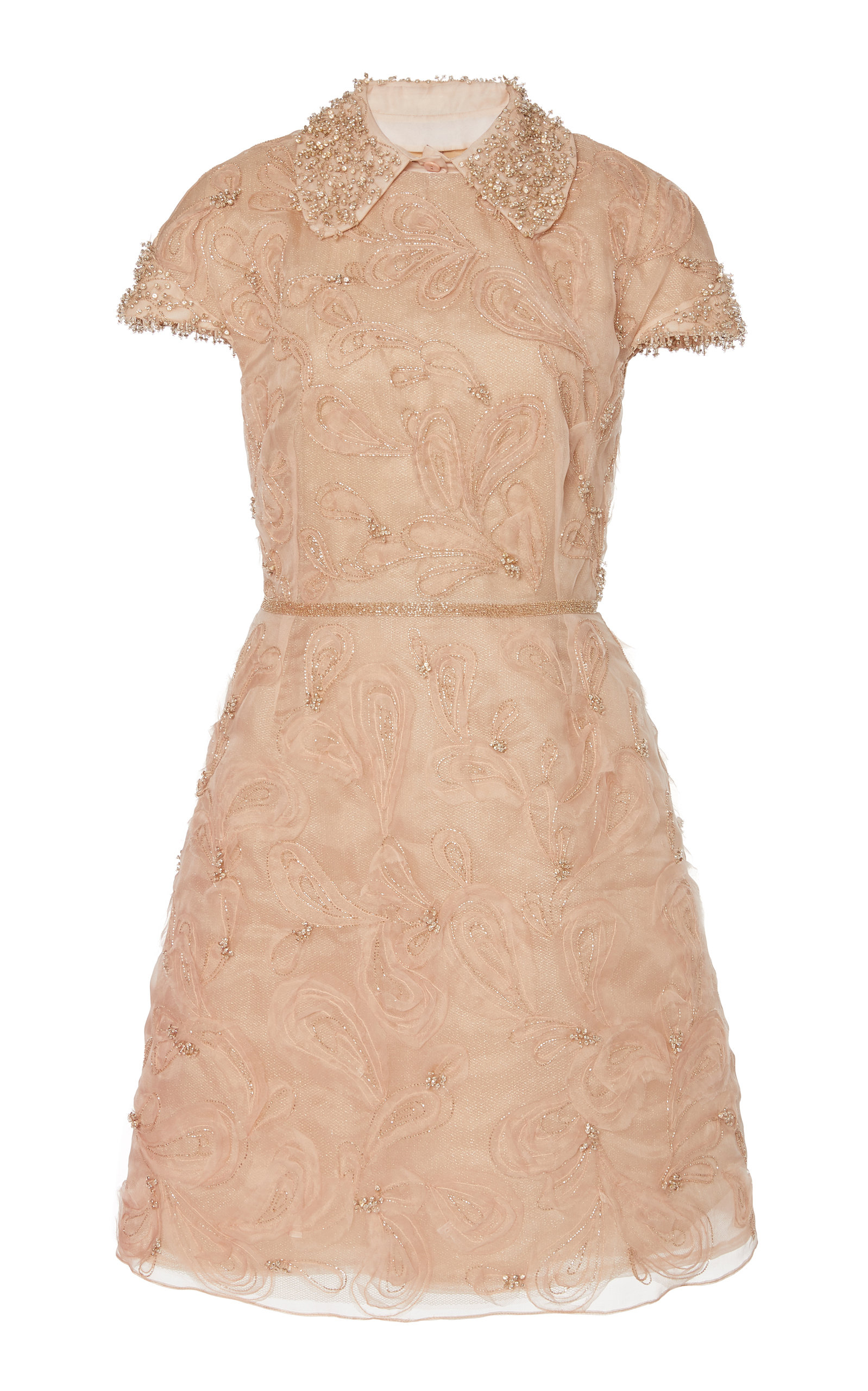 Buy Marchesa Crystal-Embroidered Silk-Organza Cocktail Dress online, shop Marchesa at the best price