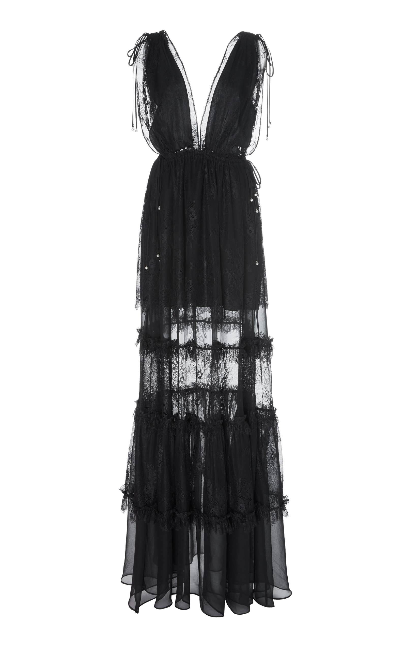 Buy Alexis Umbria Tiered Lace Gown online, shop Alexis at the best price