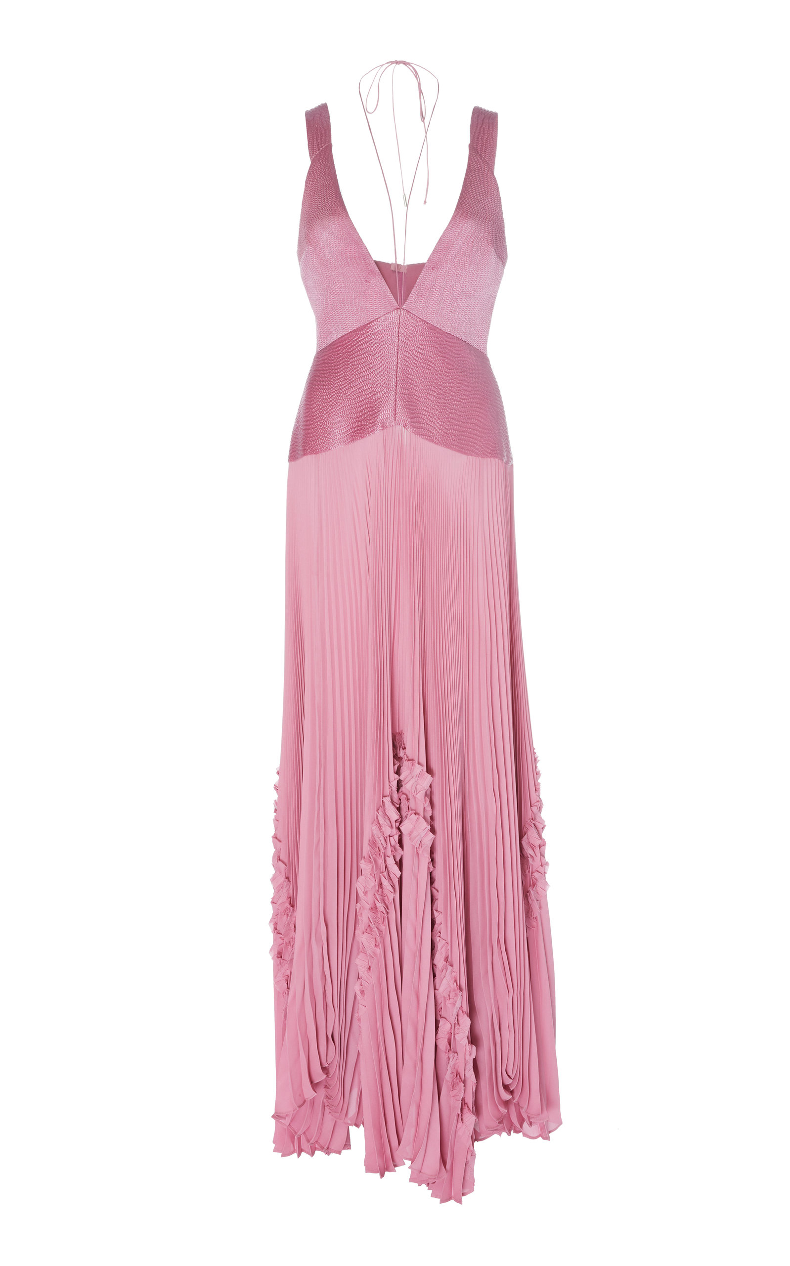 Buy Alexis Bellona Pleated Paneled Georgette Maxi Dress online, shop Alexis at the best price
