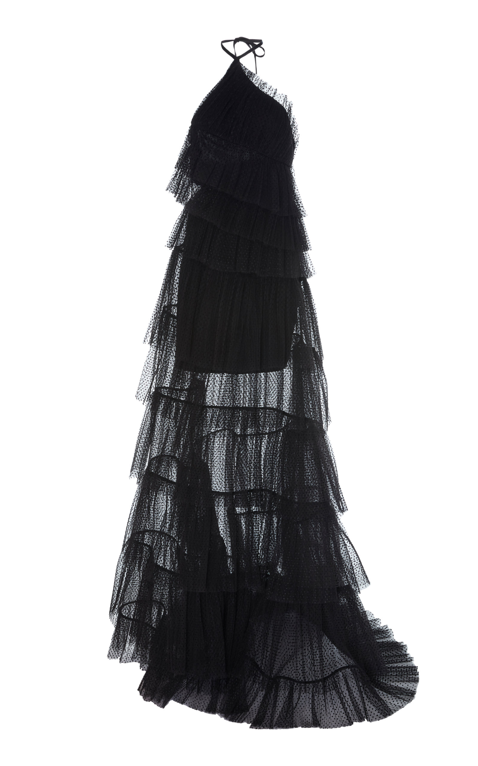 Buy Alexis Justina Tiered Tulle Halterneck Gown online, shop Alexis at the best price