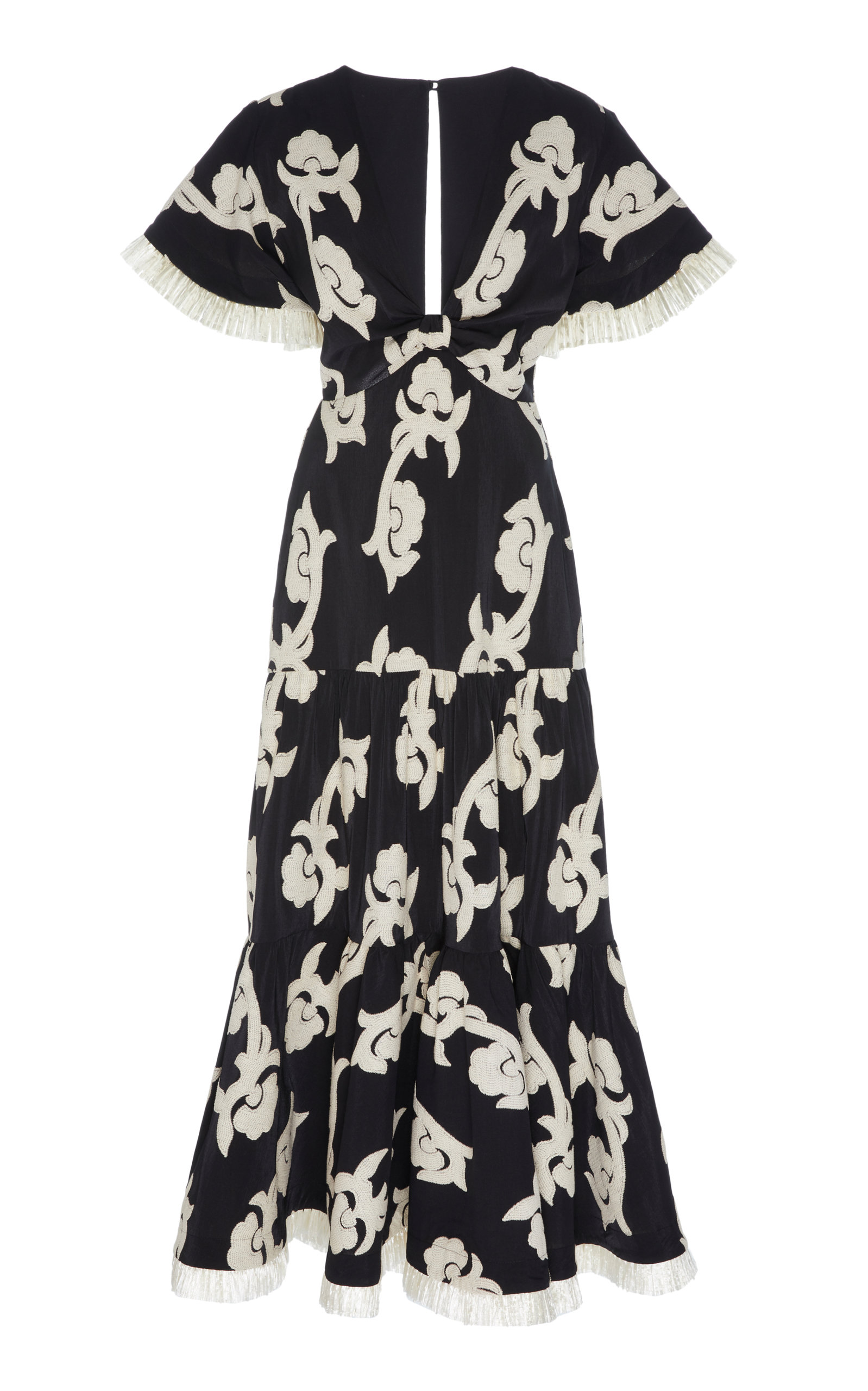 Buy Alexis Calusa Embroidered Cotton-Blend Midi Dress online, shop Alexis at the best price