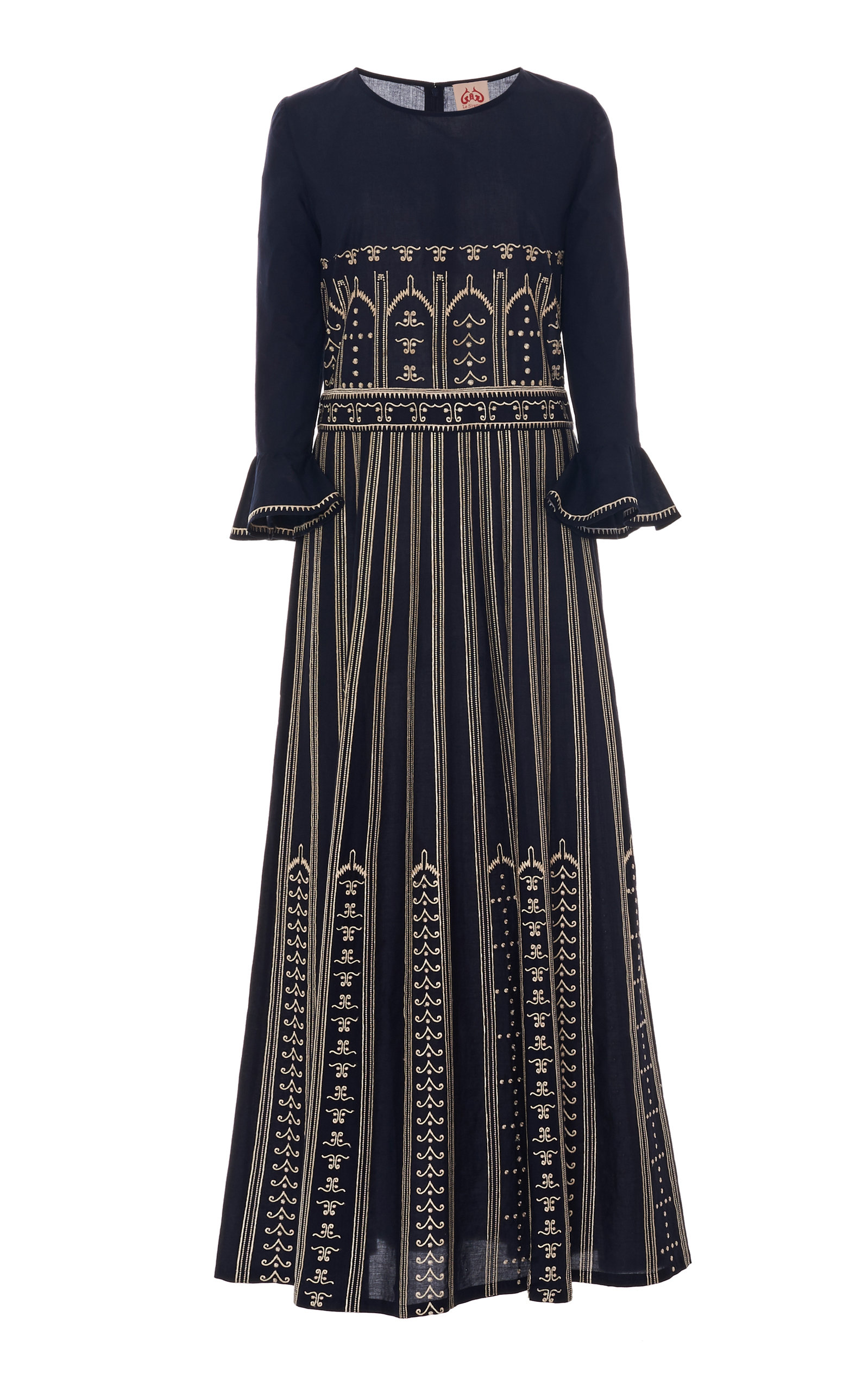Buy Le Sirenuse Positano Greek Mask Embroidery Tracey Dress online, shop Le Sirenuse Positano at the best price