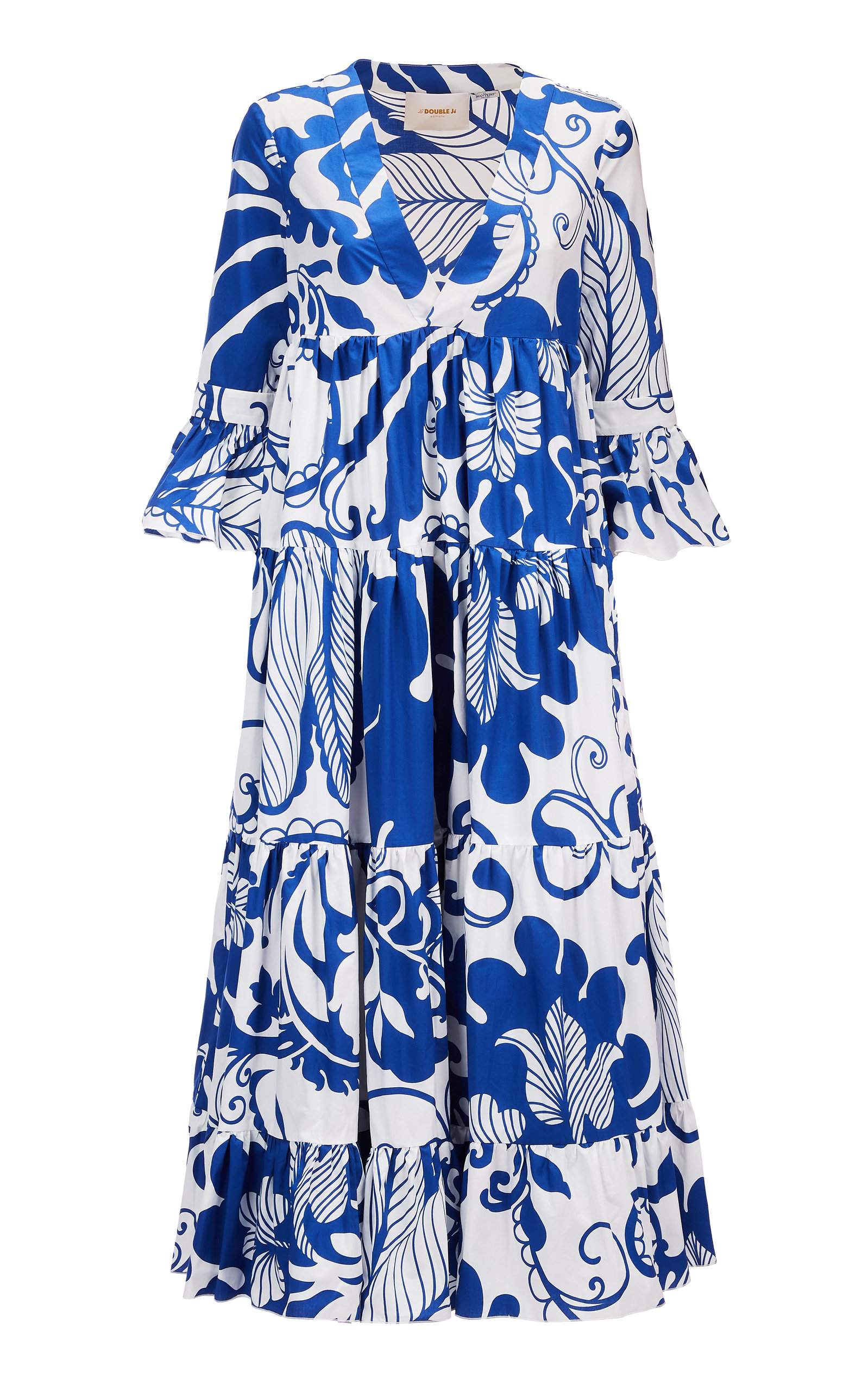 Buy La DoubleJ Jennifer Jane Floral-Print Cotton Midi Dress online, shop La DoubleJ at the best price