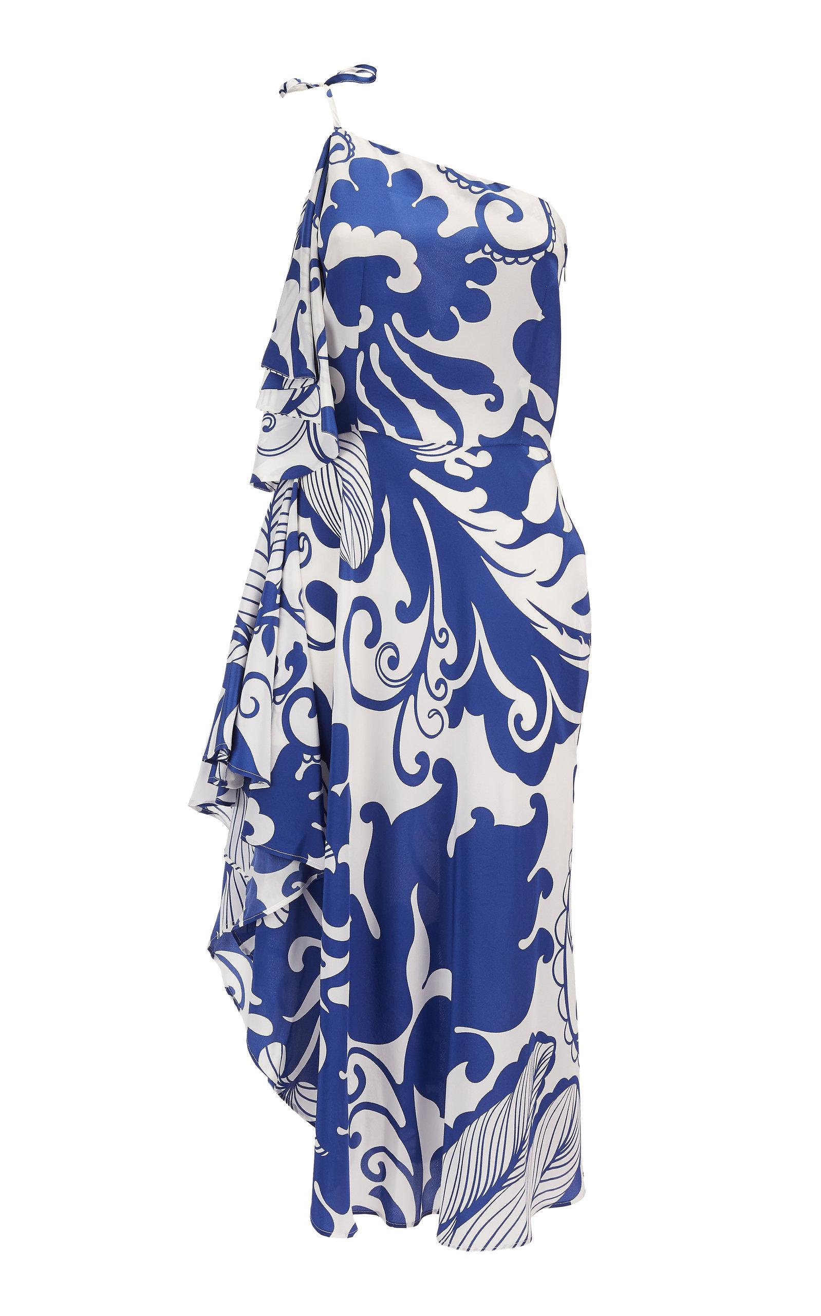 Buy La DoubleJ Cassandra One-Shoulder Silk Dress online, shop La DoubleJ at the best price