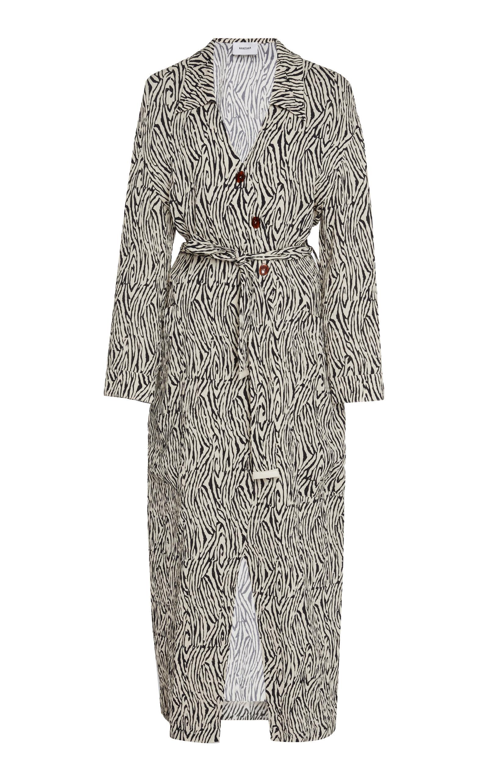 Buy Nanushka Capri Printed Crepe De Chine Wrap Dress online, shop Nanushka at the best price