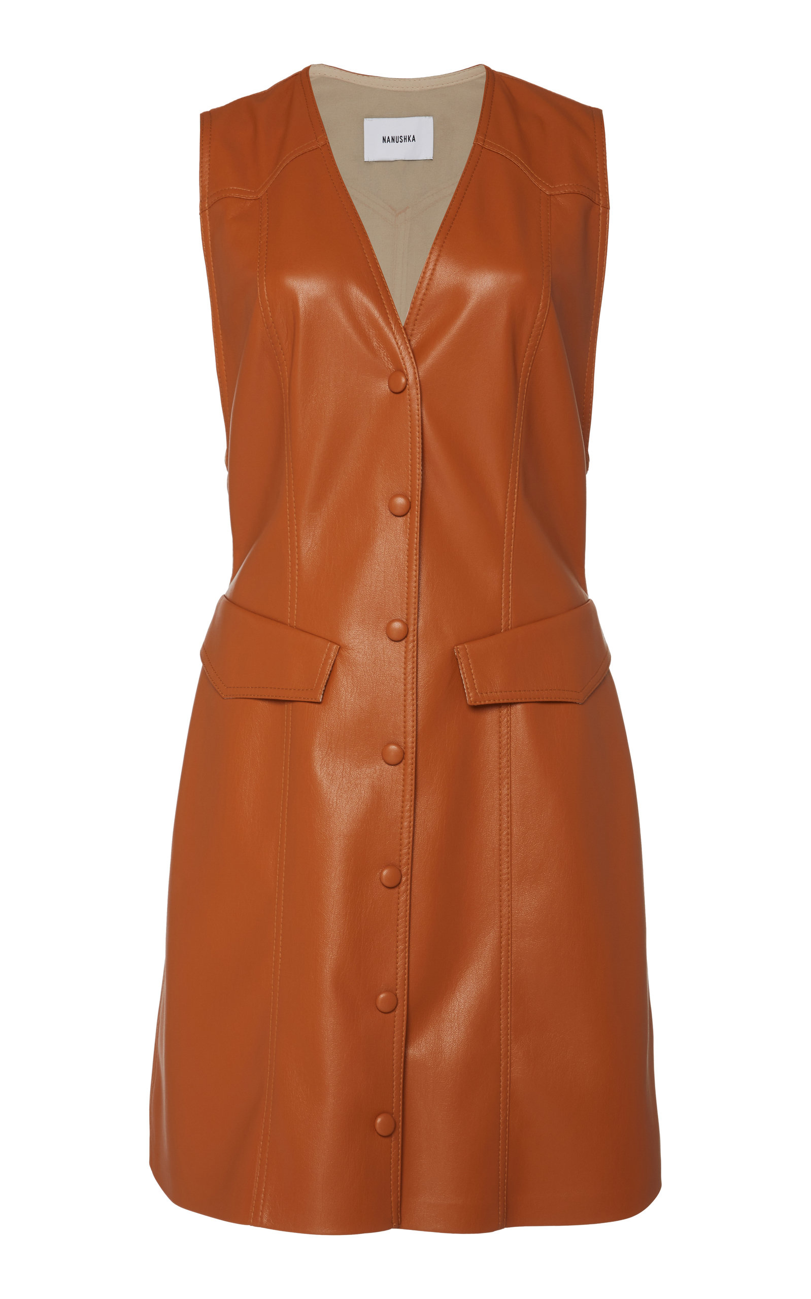 Buy Nanushka Menphi Vegan Leather Mini Dress online, shop Nanushka at the best price