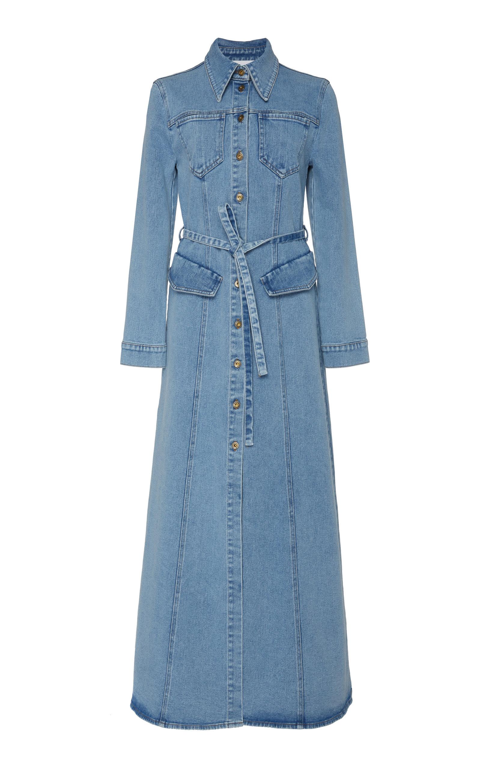 Buy Nanushka Jiaye Belted Stretch-Denim Dress online, shop Nanushka at the best price