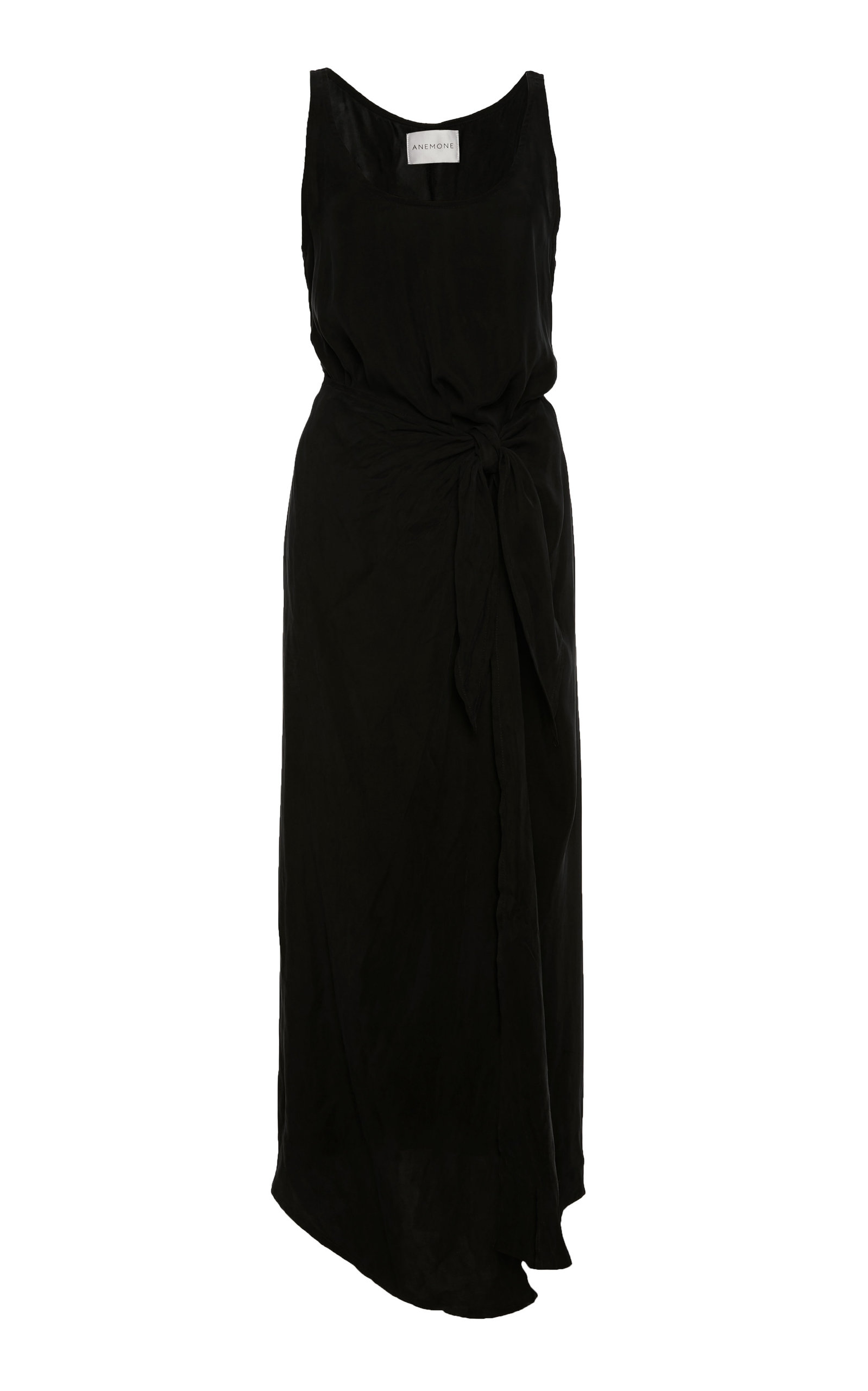 Buy Anemone Asymmetric Tie-Front Washed-Georgette Wrap Dress online, shop Anemone at the best price