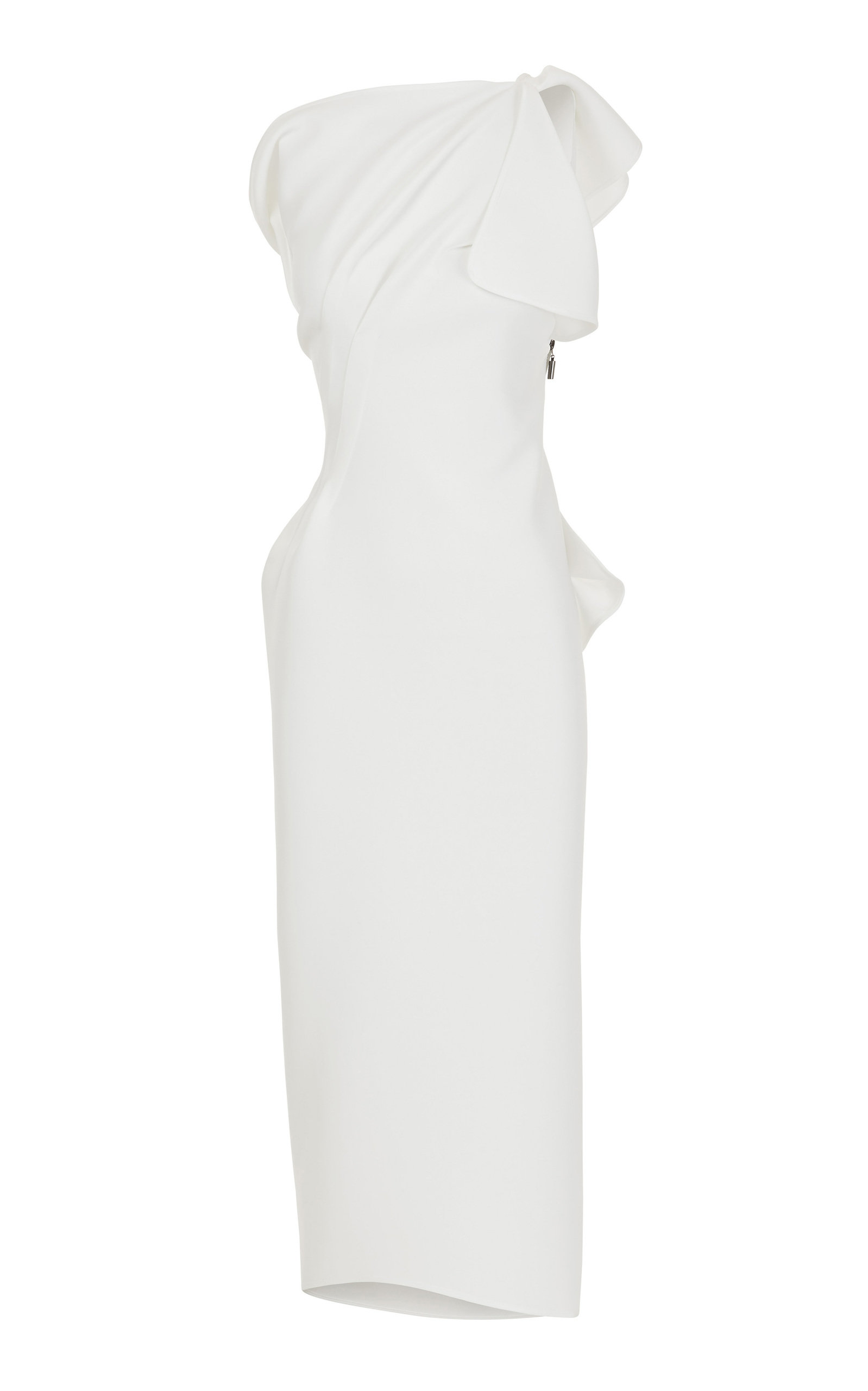 Buy Maticevski Atomished Gathered Cady Midi Dress online, shop Maticevski at the best price