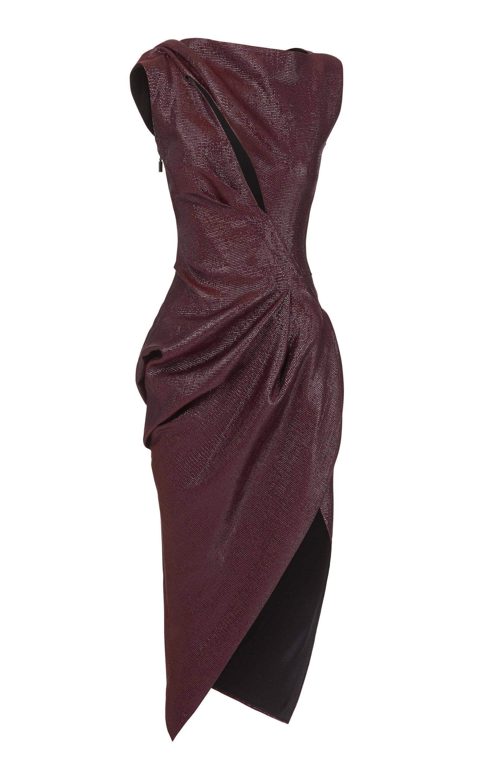 Buy Maticevski Connector Gathered Cady Dress online, shop Maticevski at the best price
