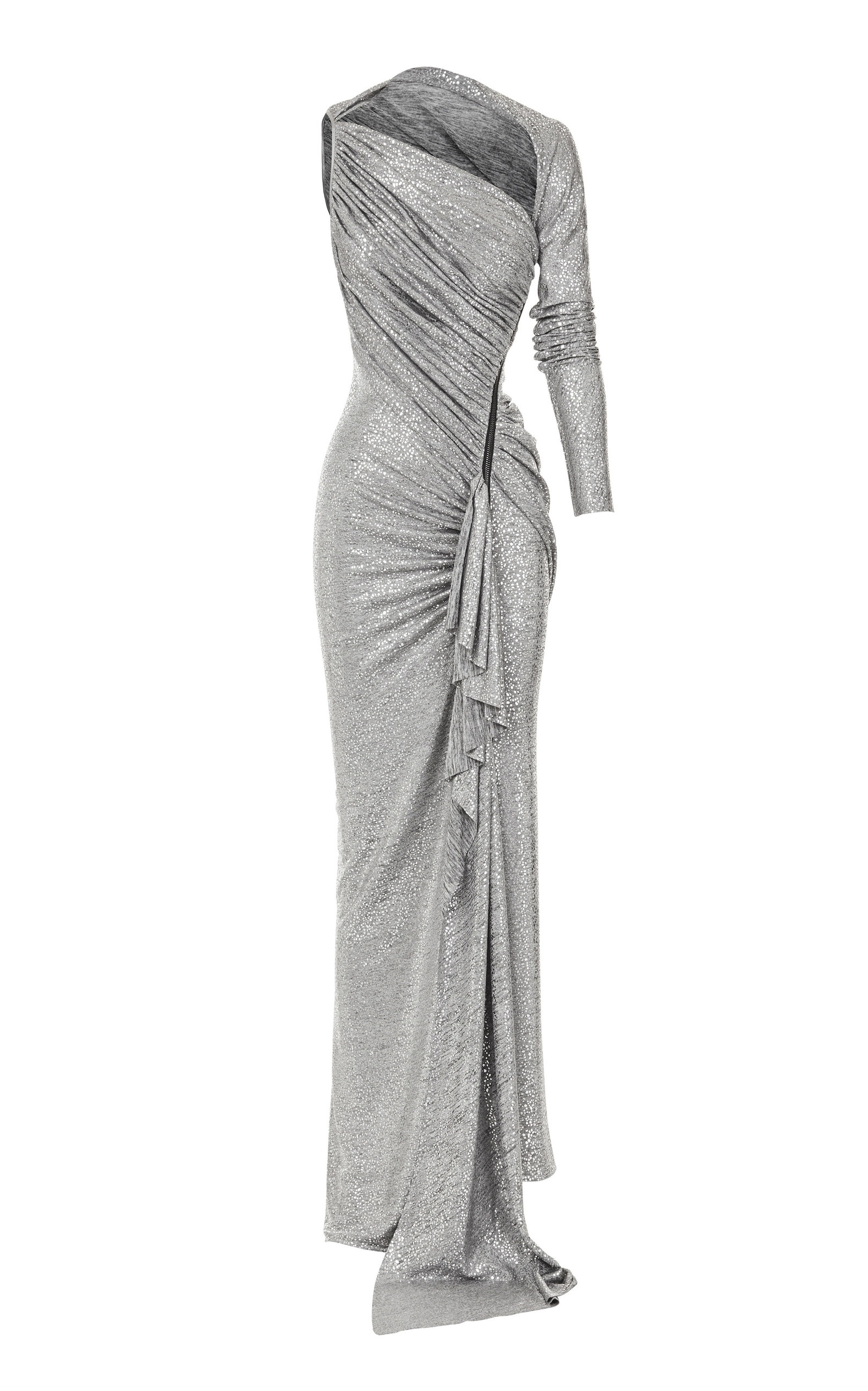 Buy Maticevski Arousal Asymmetric Ruched Metallic Stretch-Jersey Gown online, shop Maticevski at the best price
