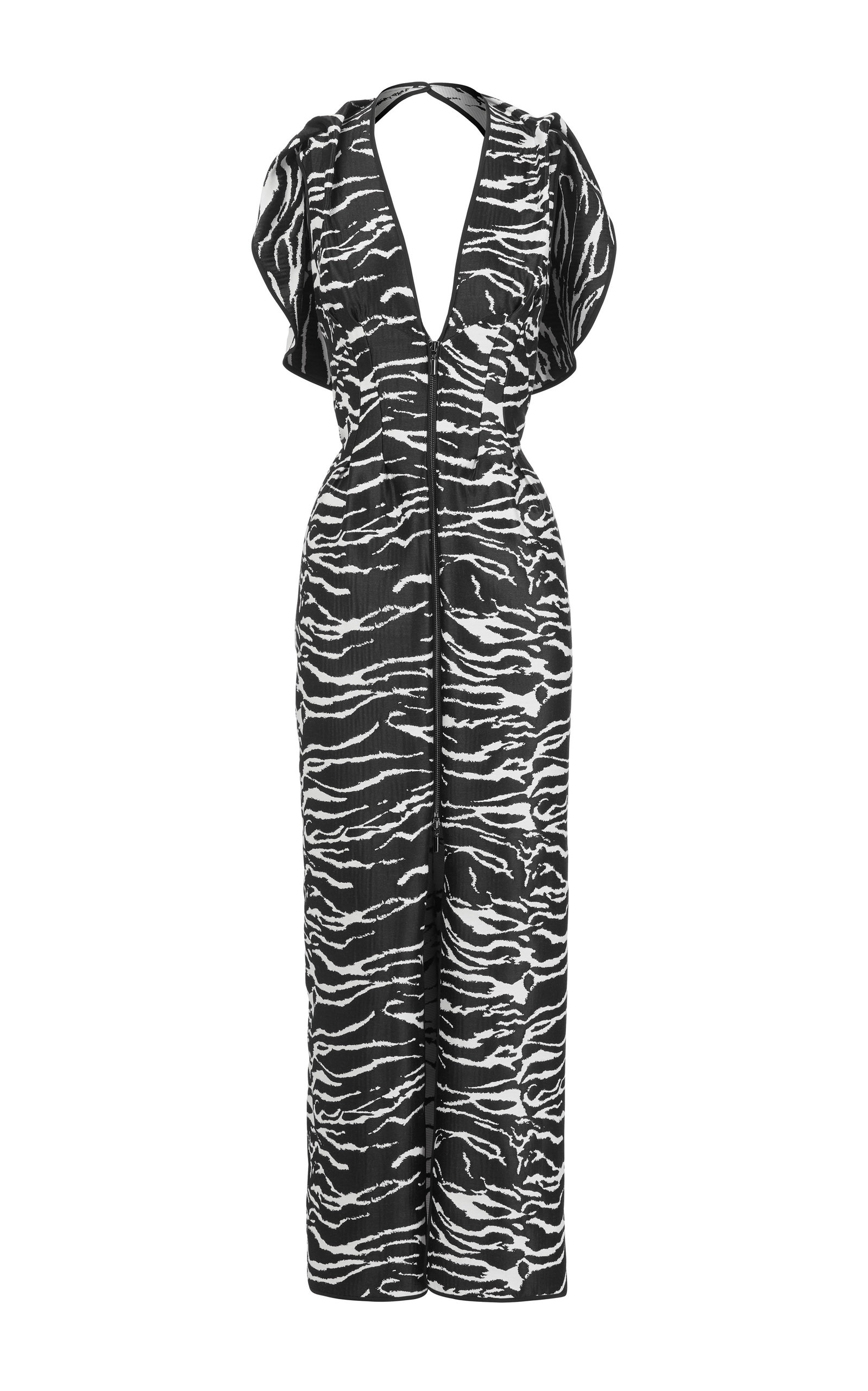 Buy Maticevski Insecta Ruffled Printed Georgette Midi Dress online, shop Maticevski at the best price