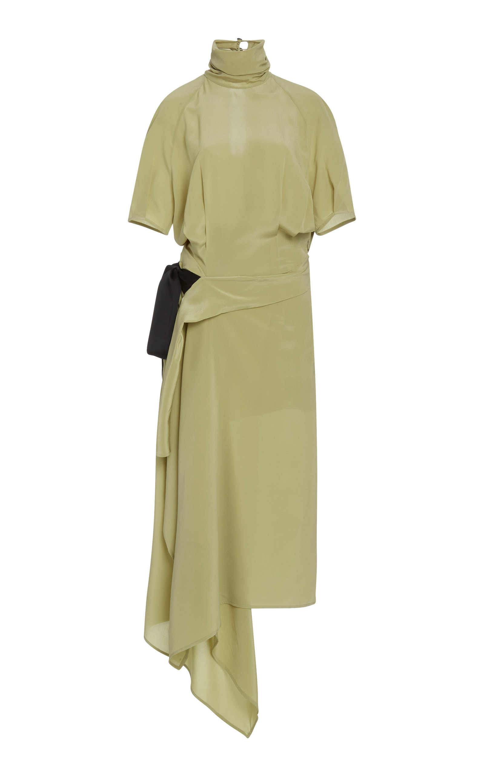 Buy Petar Petrov Alta Wrap-Effect Silk Dress online, shop Petar Petrov at the best price