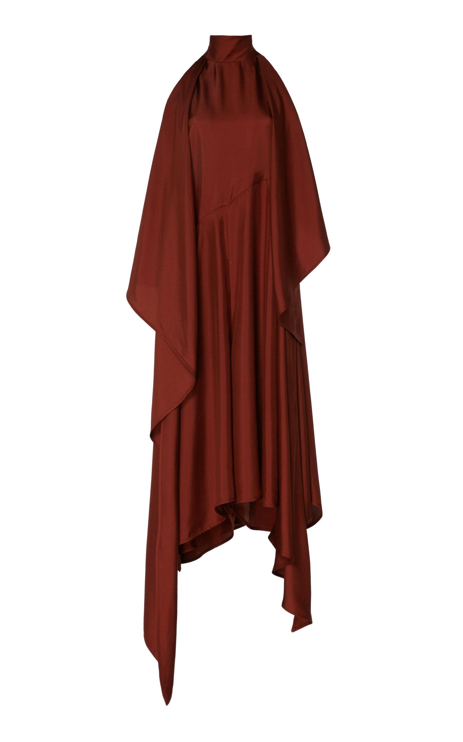 Buy Petar Petrov Abril Asymmetric Silk-Jersey Halterneck Dress online, shop Petar Petrov at the best price
