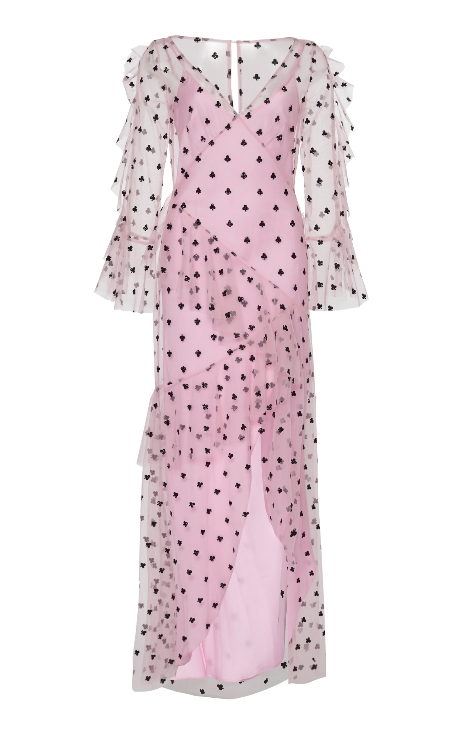 Buy Temperley London Fortuna Ruffled Tulle Dress online, shop Temperley London at the best price