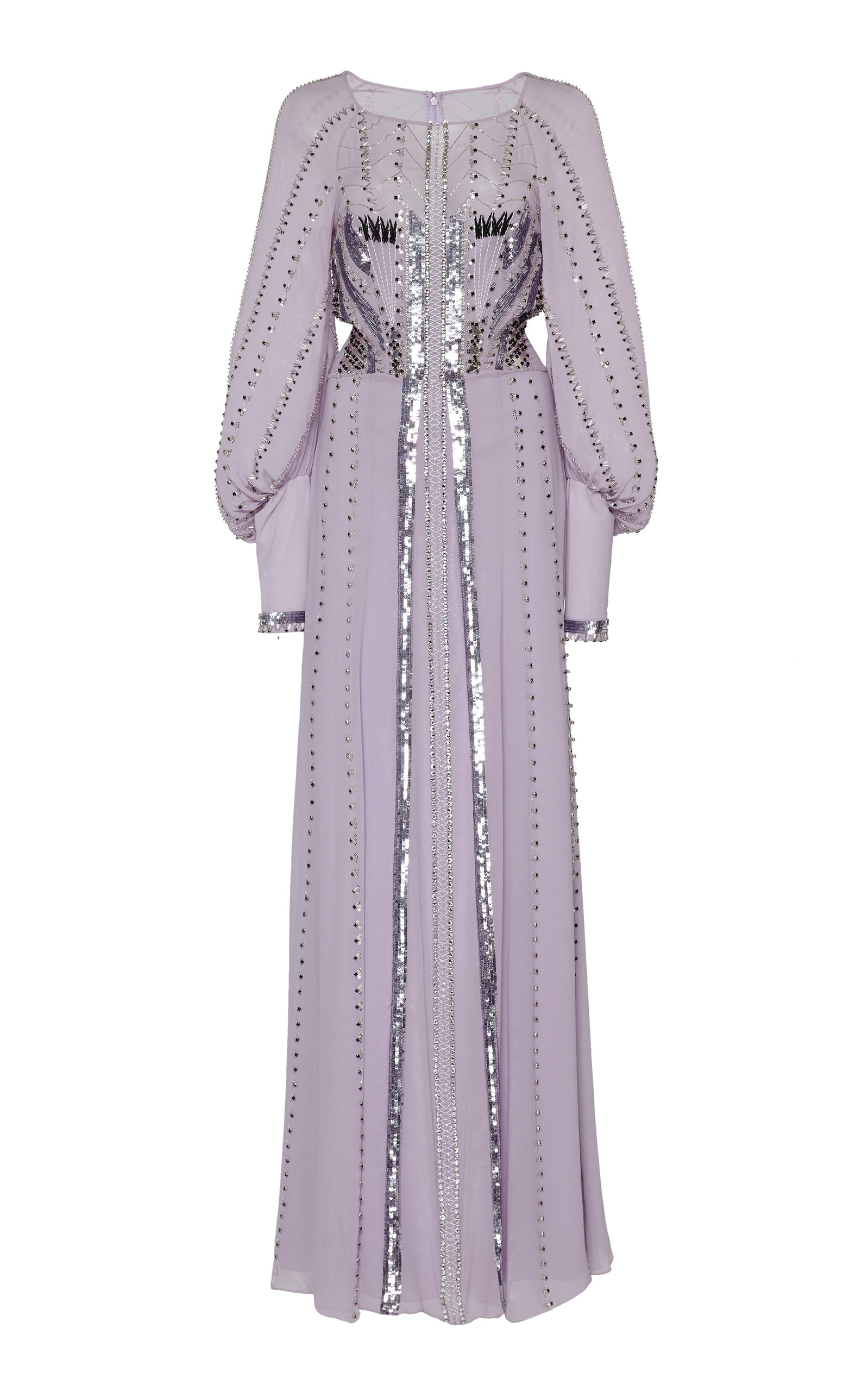 Buy Temperley London Queenie Studded Sequin-Embellished Silk Gown online, shop Temperley London at the best price