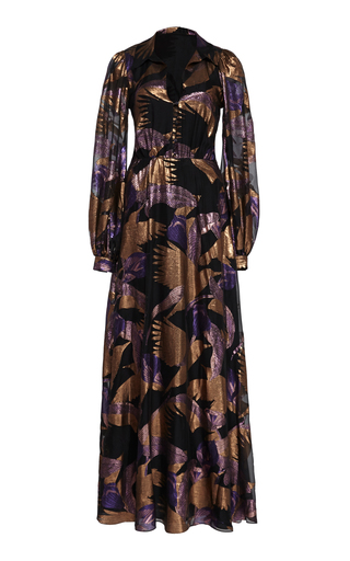 Temperley London KITTY METALLIC MAXI DRESS