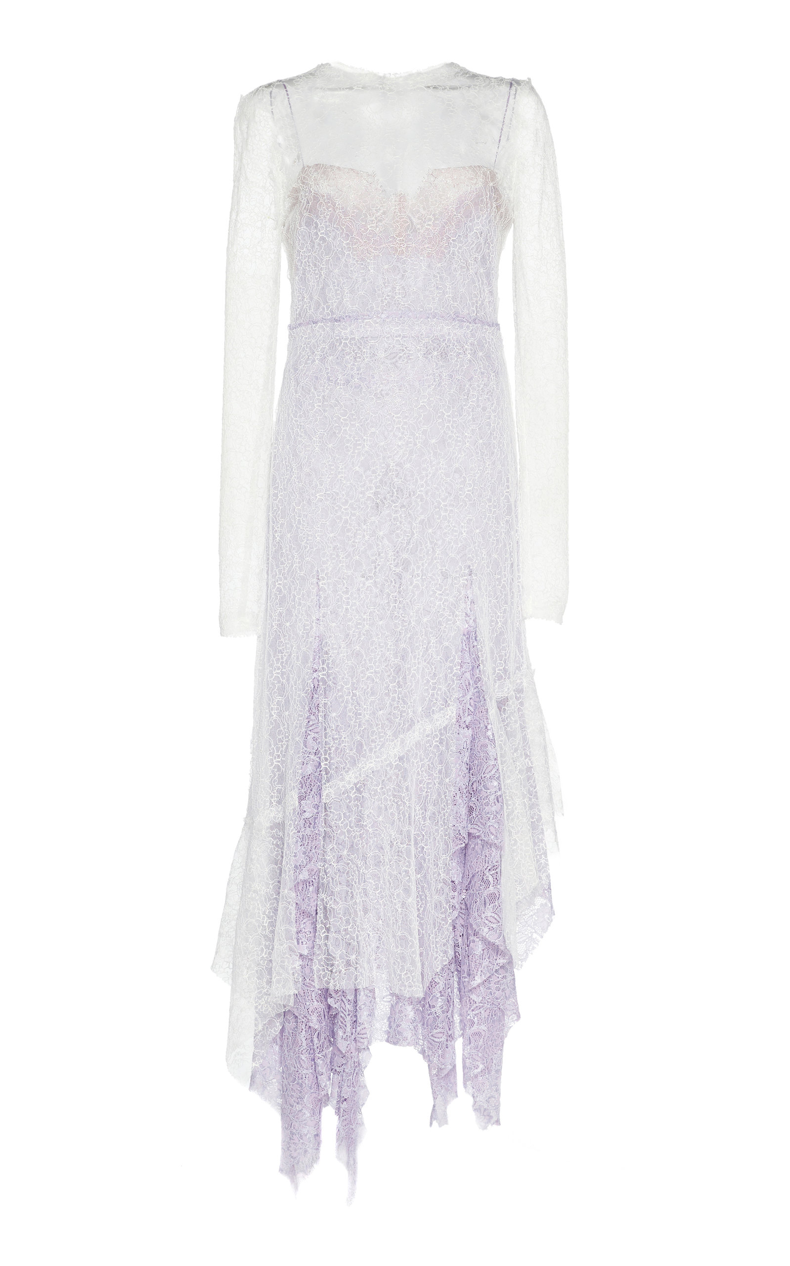 Buy Anaïs Jourden Two-Tone Ruffled-Trim Lace Midi Dress online, shop Anaïs Jourden at the best price