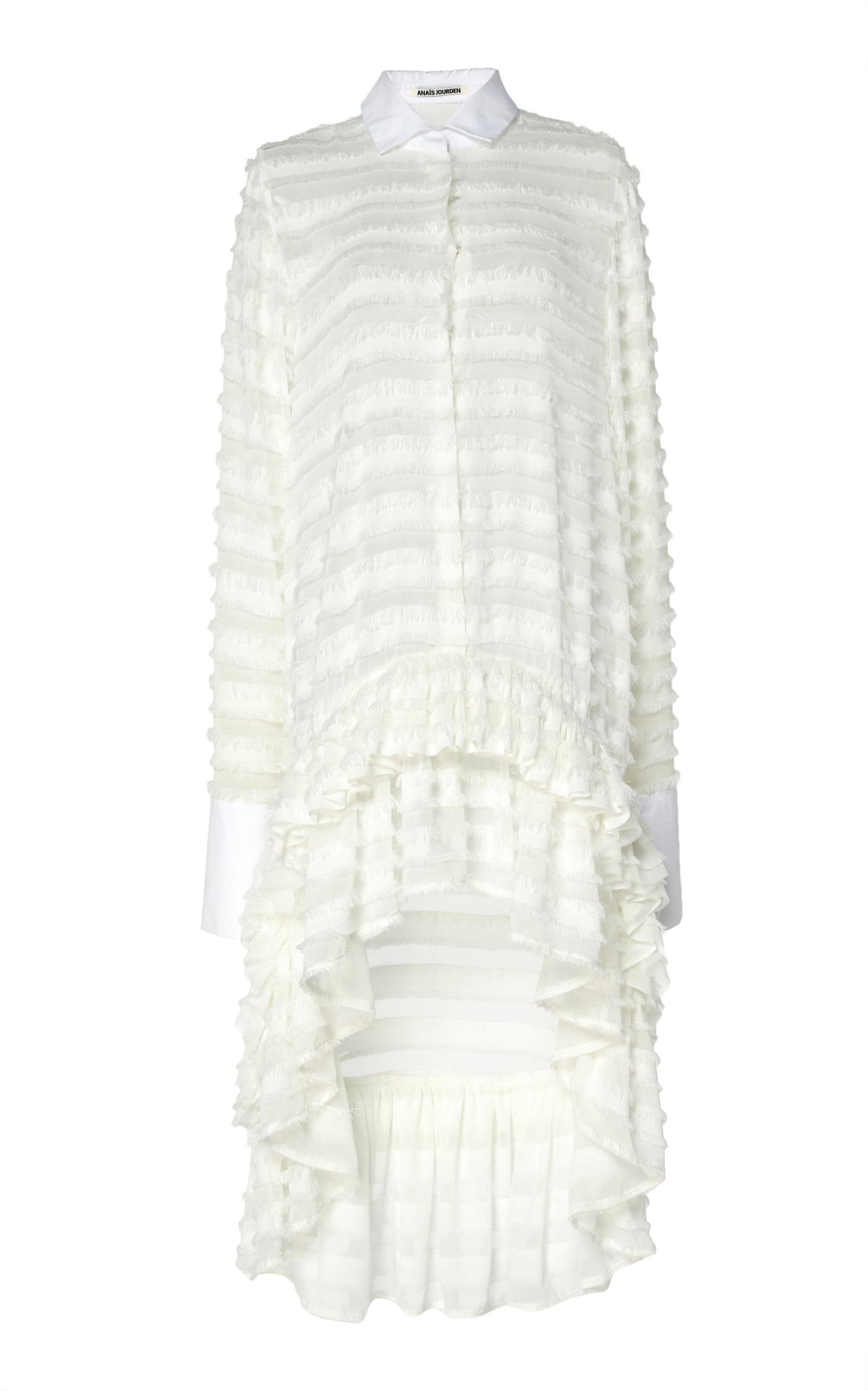 Buy Anaïs Jourden Confetti Ruffled White Tulle Shirtdress online, shop Anaïs Jourden at the best price