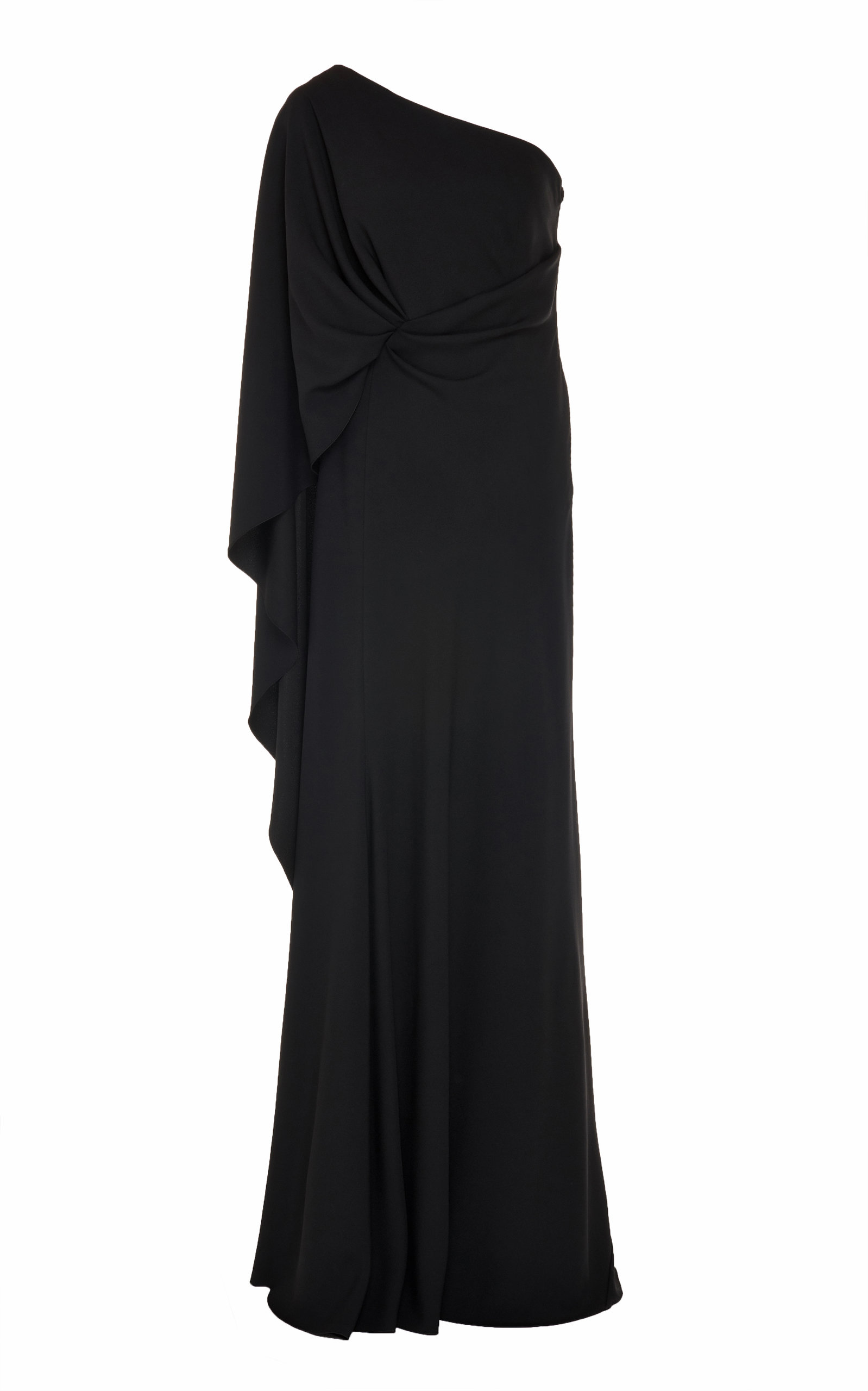 Buy Alberta Ferretti One-Shoulder Knotted Satin-Effect Gown online, shop Alberta Ferretti at the best price
