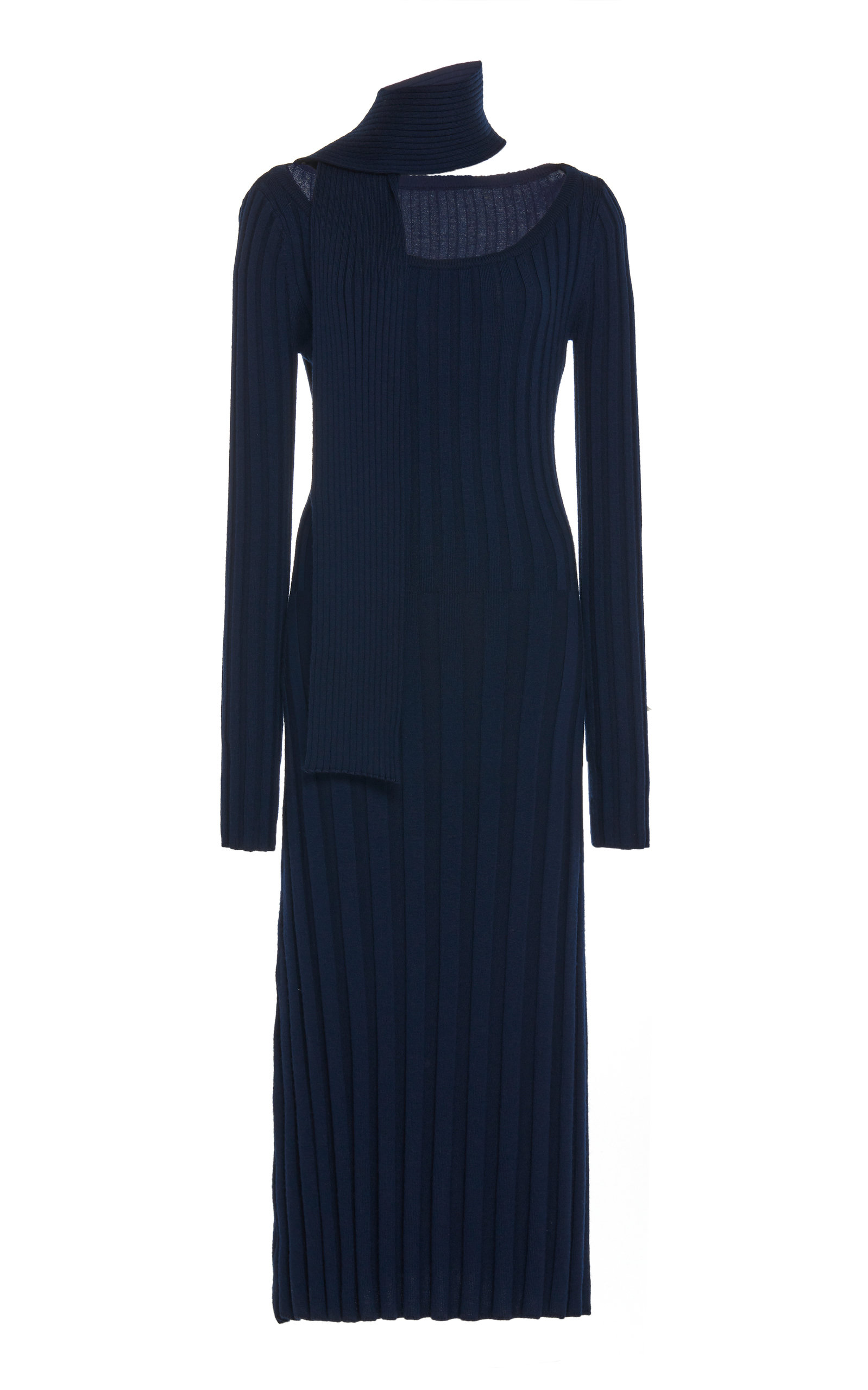 Buy Rokh Ribbed Wool-Knit Dress online, shop Rokh at the best price