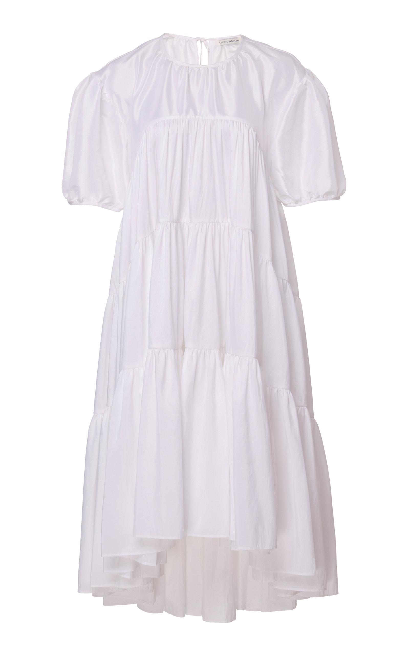 Buy Cecilie Bahnsen Esme Balloon Sleeve Midi Dress online, shop Cecilie Bahnsen at the best price