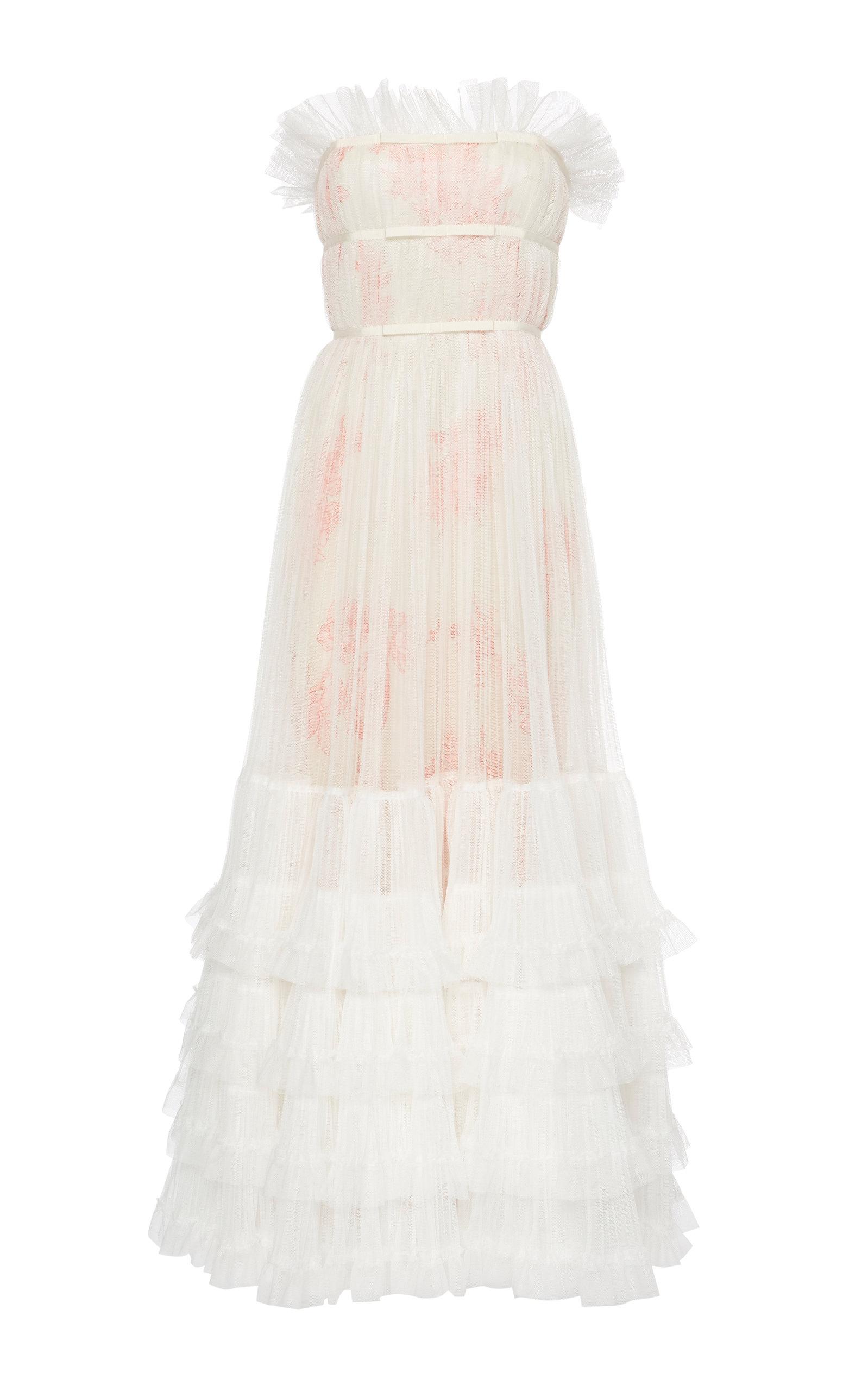 Buy Giambattista Valli Strapless Ruffled Tulle Gown online, shop Giambattista Valli at the best price