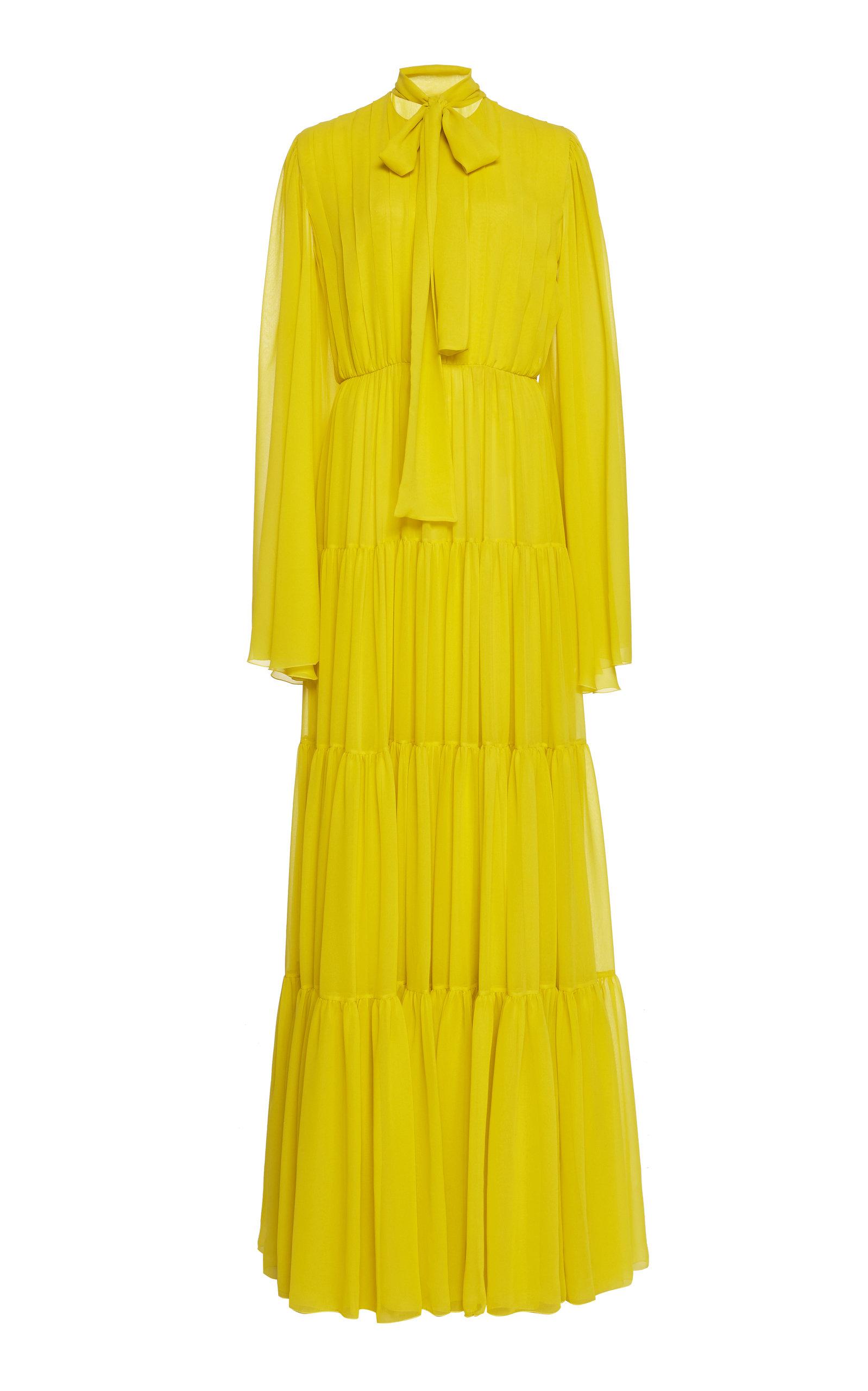 Buy Giambattista Valli Pussy-Bow Silk-Chiffon Maxi Dress online, shop Giambattista Valli at the best price