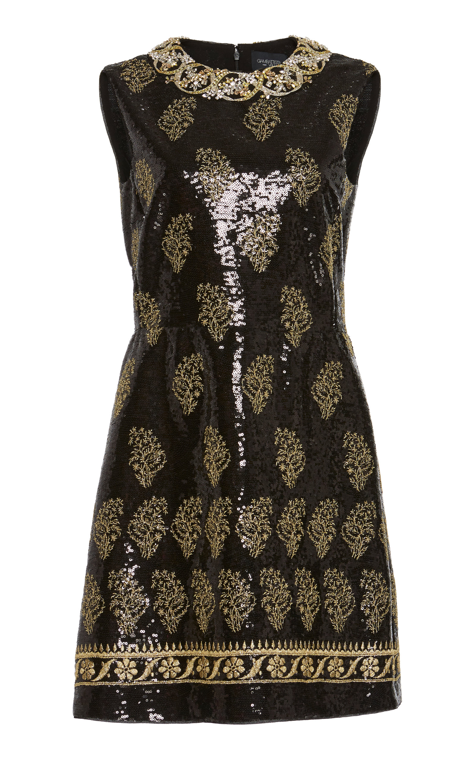 Buy Giambattista Valli Embroidered Sequined Mini Dress online, shop Giambattista Valli at the best price