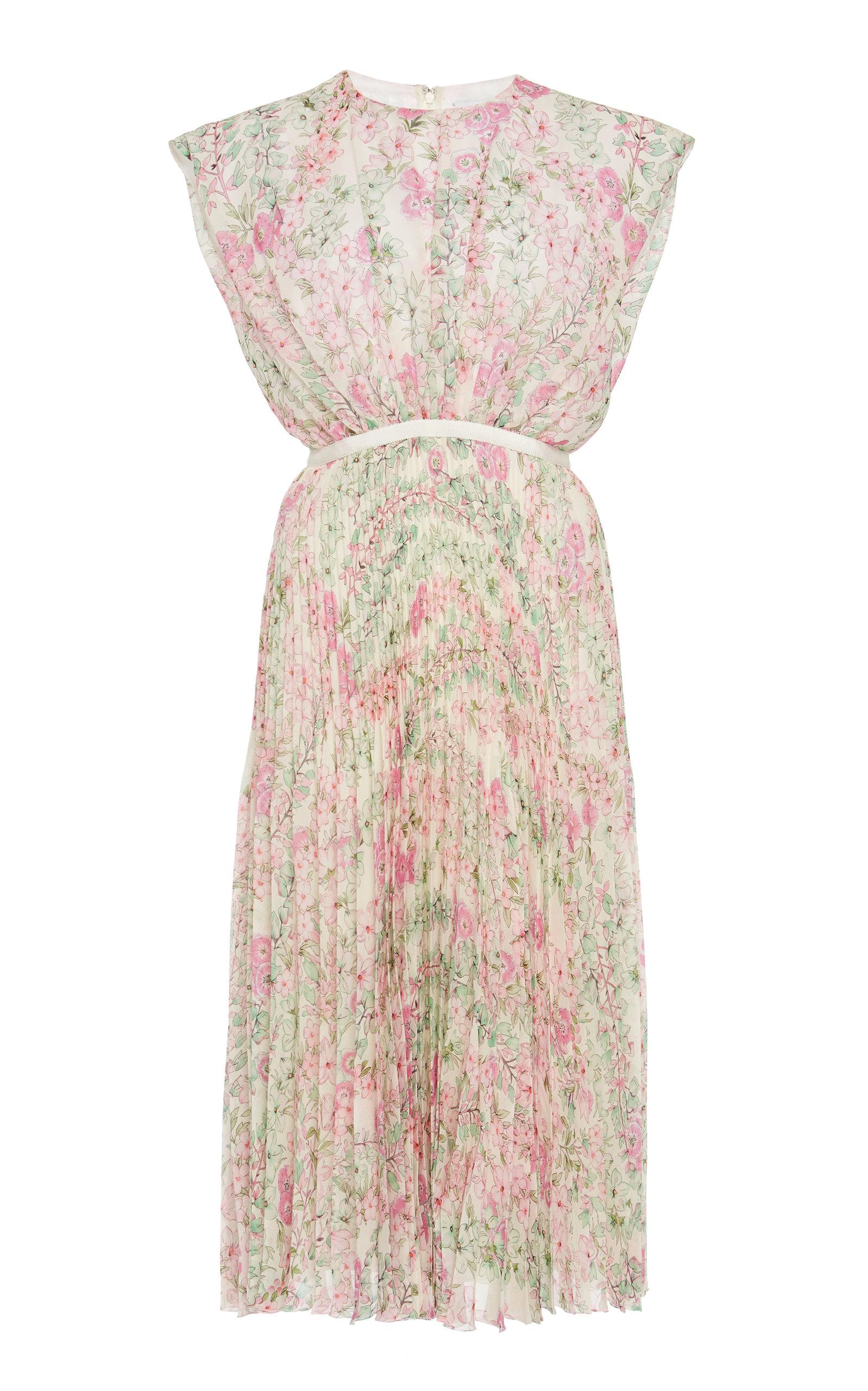 Buy Giambattista Valli Floral-Print Silk-Plissé Midi Dress online, shop Giambattista Valli at the best price