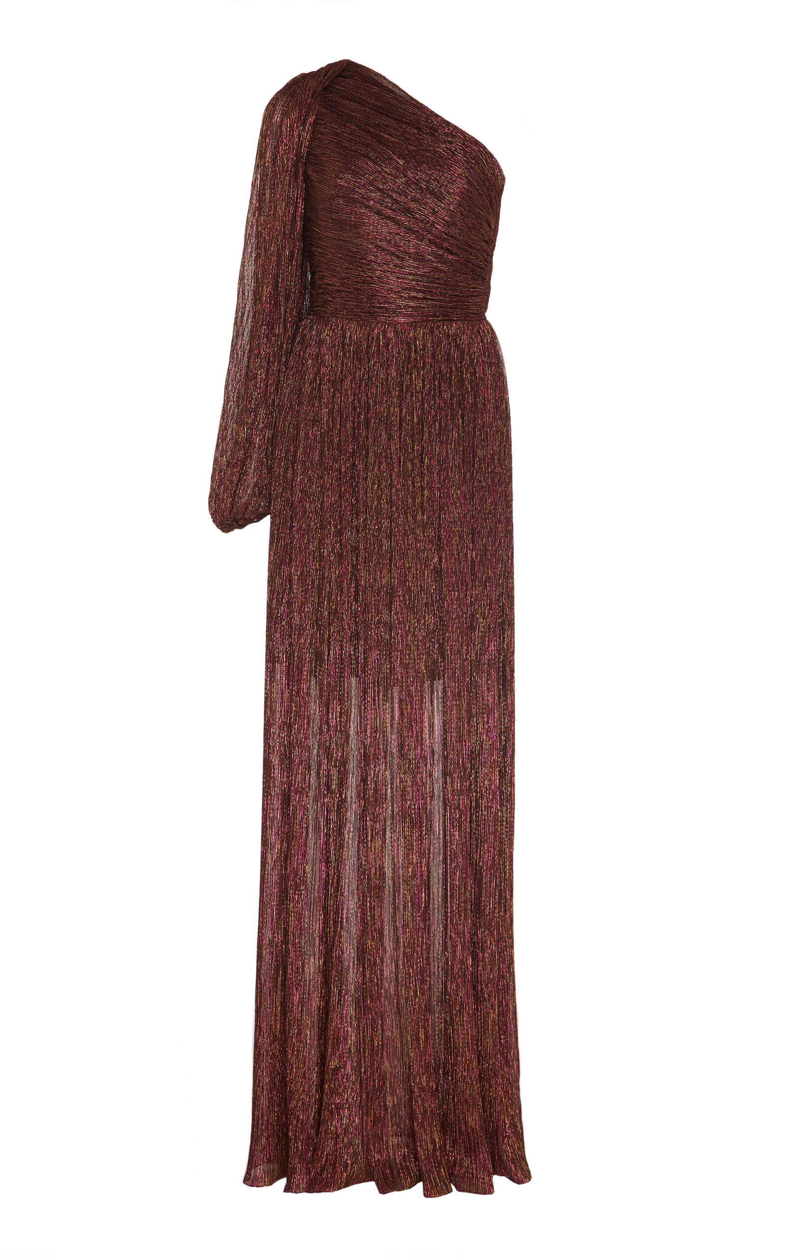 Buy Peter Pilotto Metallic One-Shoulder Chiffon Gown online, shop Peter Pilotto at the best price
