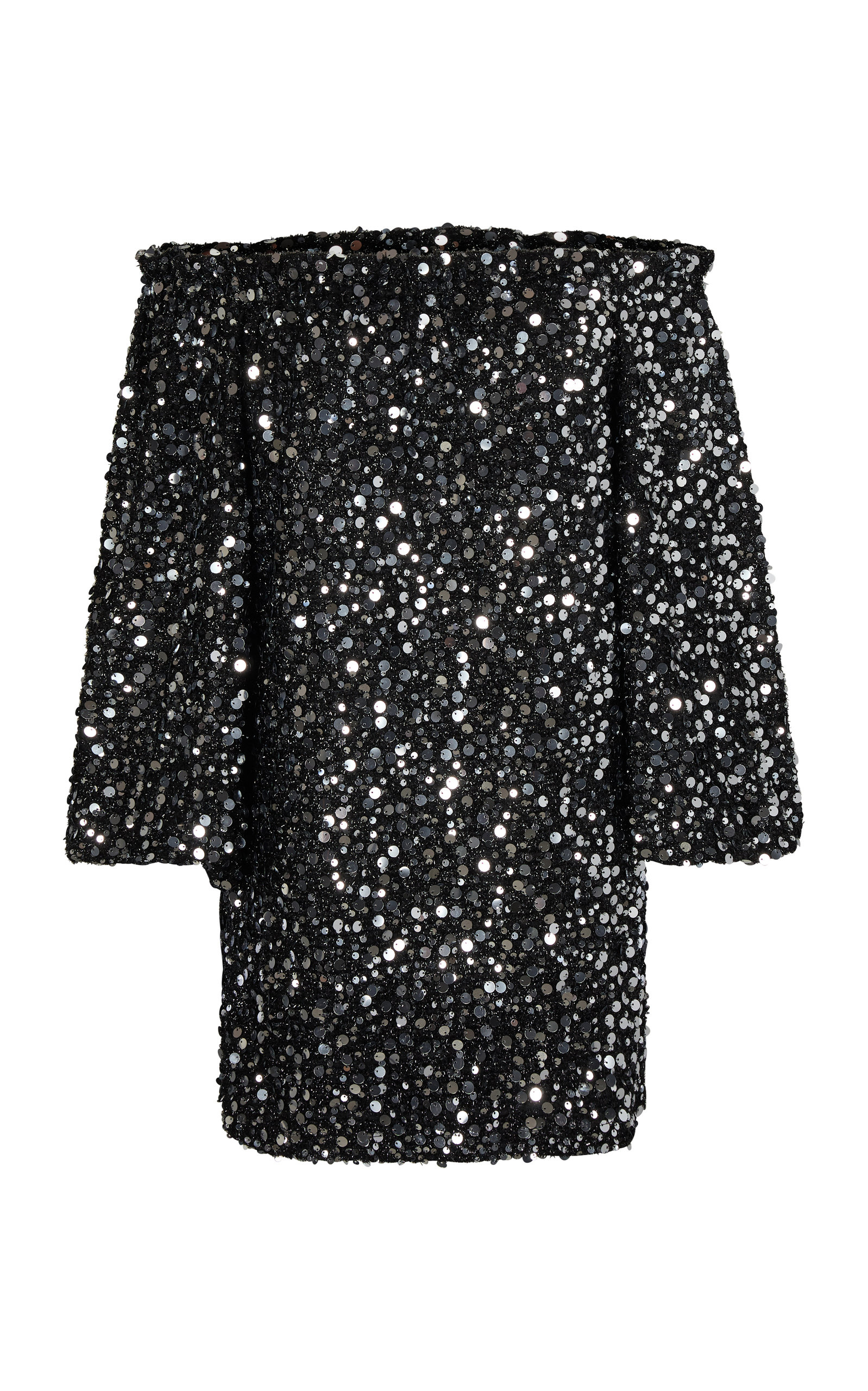 Buy ROTATE Gloria Off-The-Shoulder Sequined Chiffon Mini Dress online, shop ROTATE at the best price
