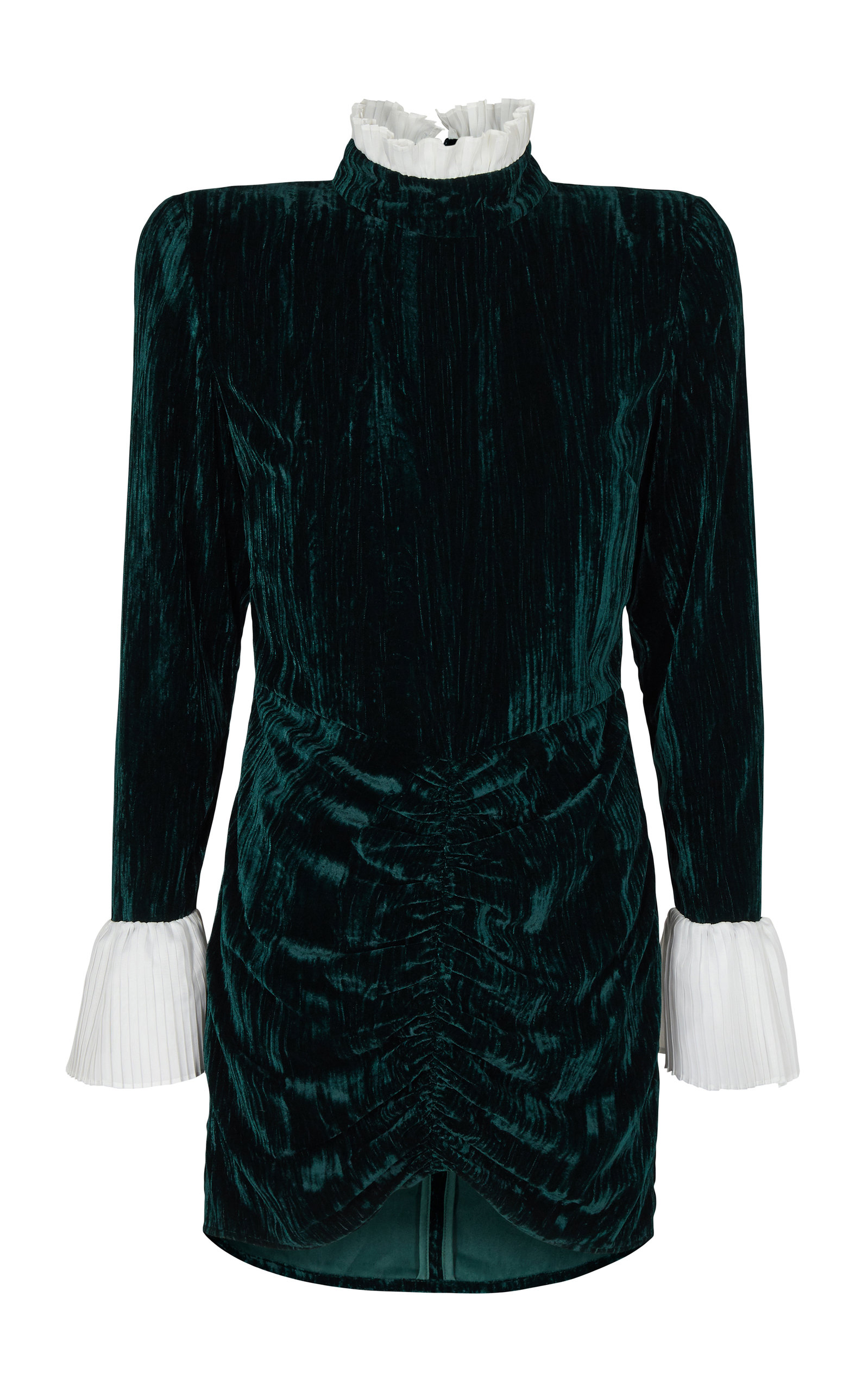 Buy ROTATE Miki Ruched Velvet Mini Dress online, shop ROTATE at the best price