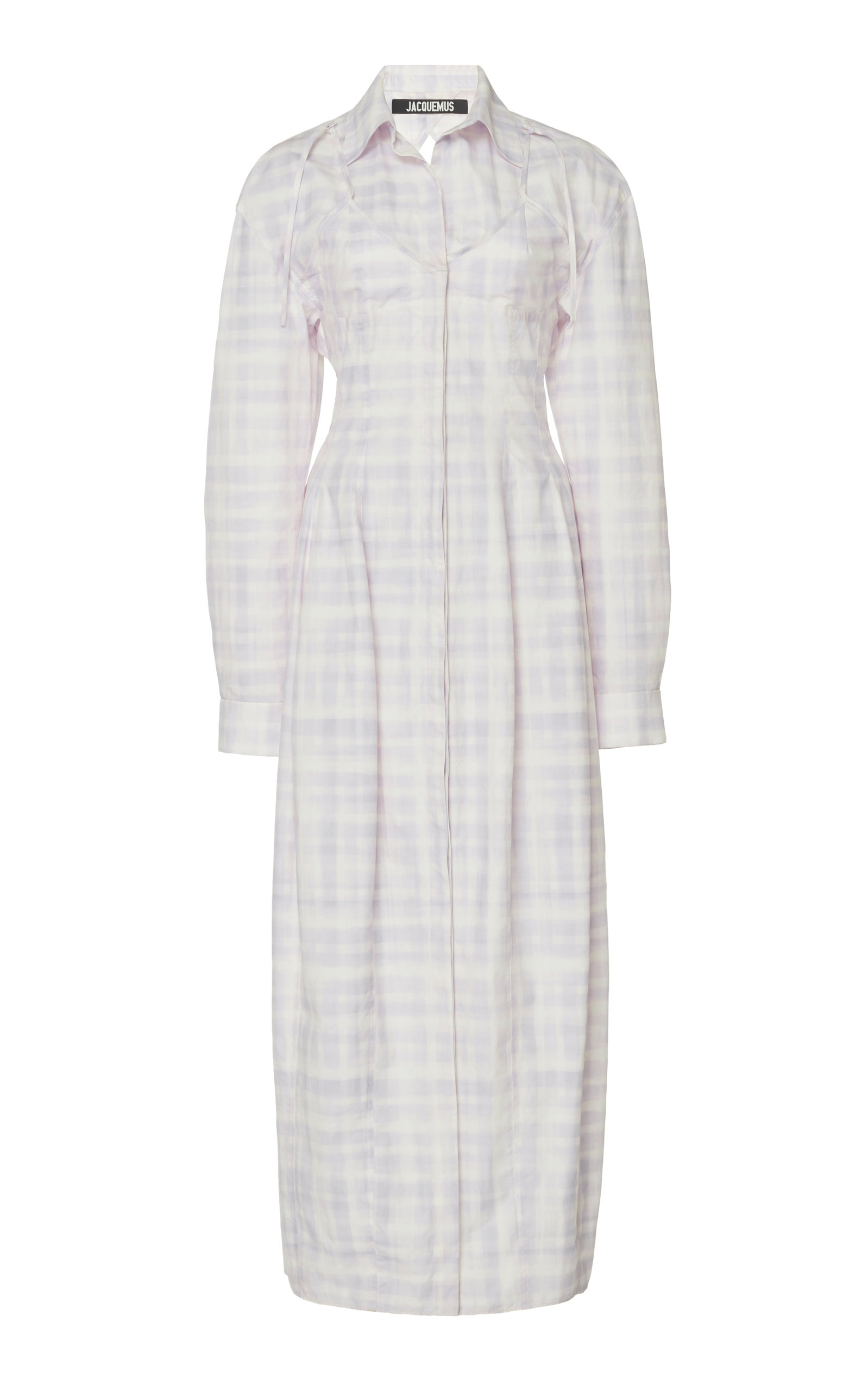 Buy Jacquemus La Robe Valensole Checked Midi Shirt Dress online, shop Jacquemus at the best price