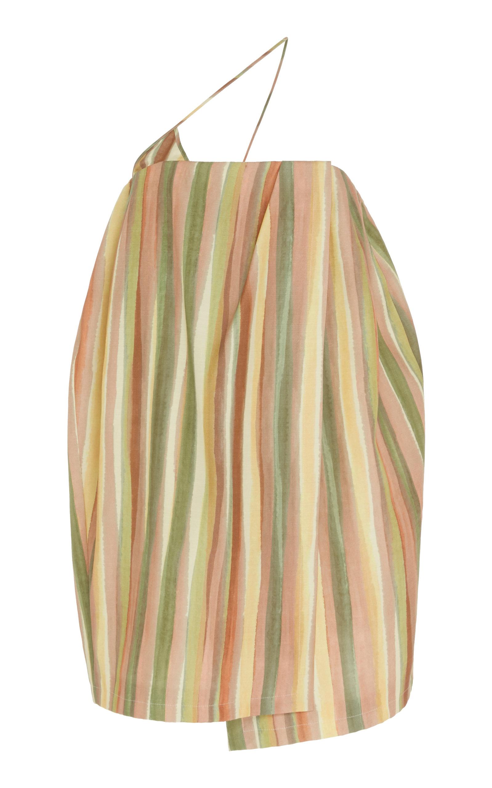 Buy Jacquemus La Robe Soleil Striped Silk-Blend Mini Dress online, shop Jacquemus at the best price
