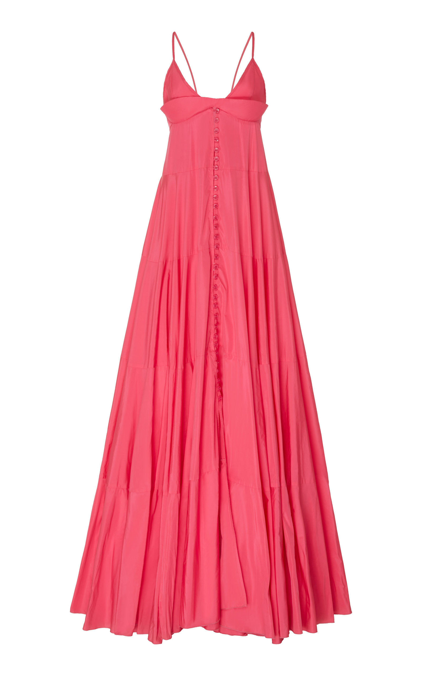 Buy Jacquemus La Robe Manosque Tiered Chiffon Maxi Dress online, shop Jacquemus at the best price
