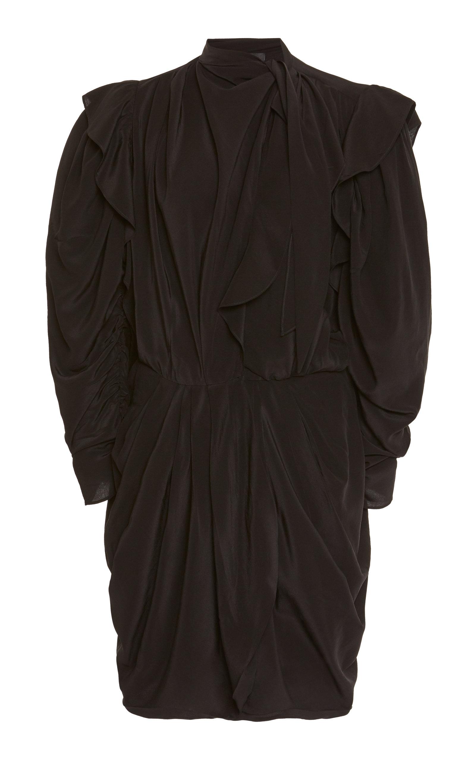 Buy Isabel Marant Bruna Necktie Silk Mini Dress online, shop Isabel Marant at the best price