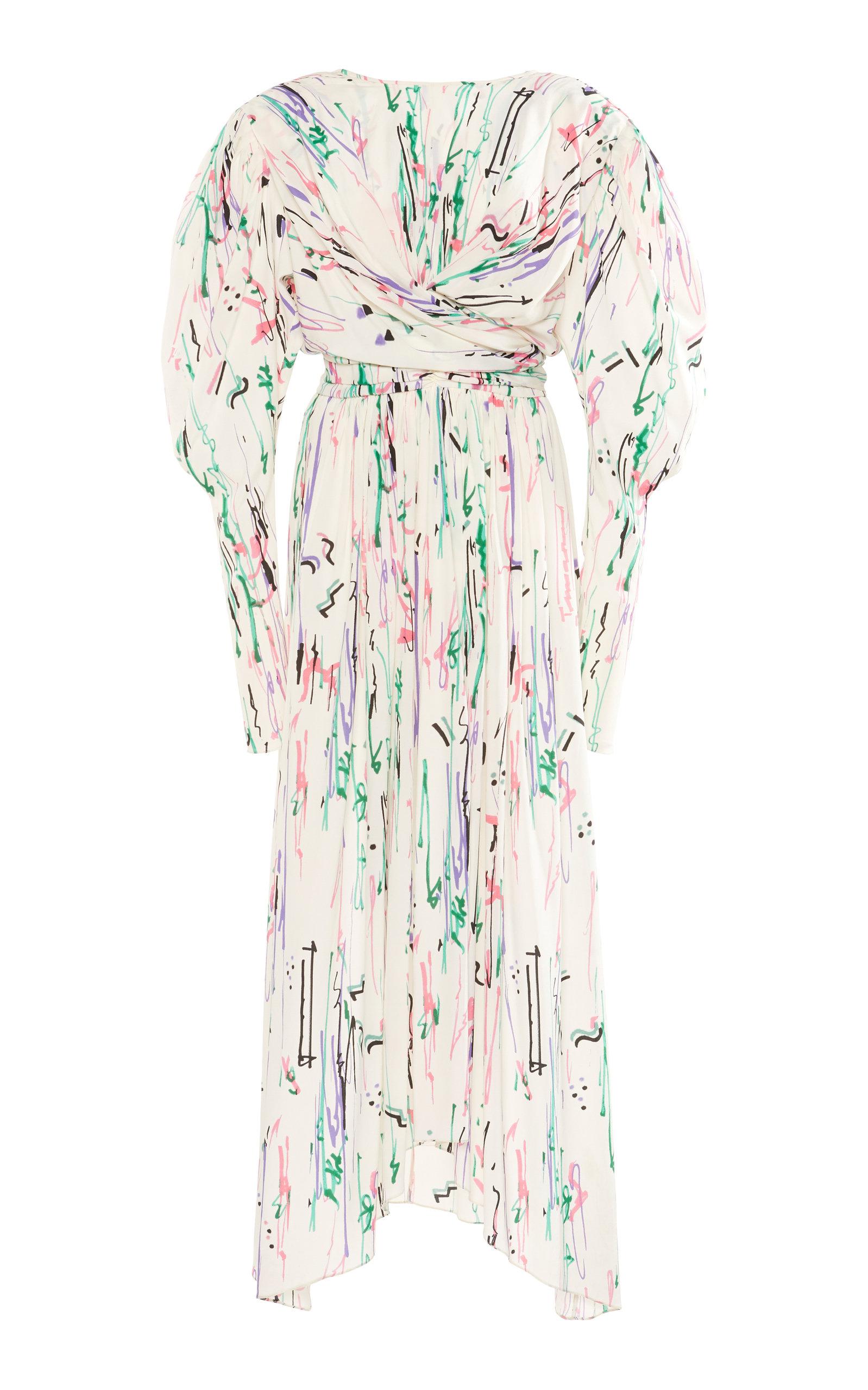 Buy Isabel Marant Filao Printed Silk-Blend Midi Dress online, shop Isabel Marant at the best price