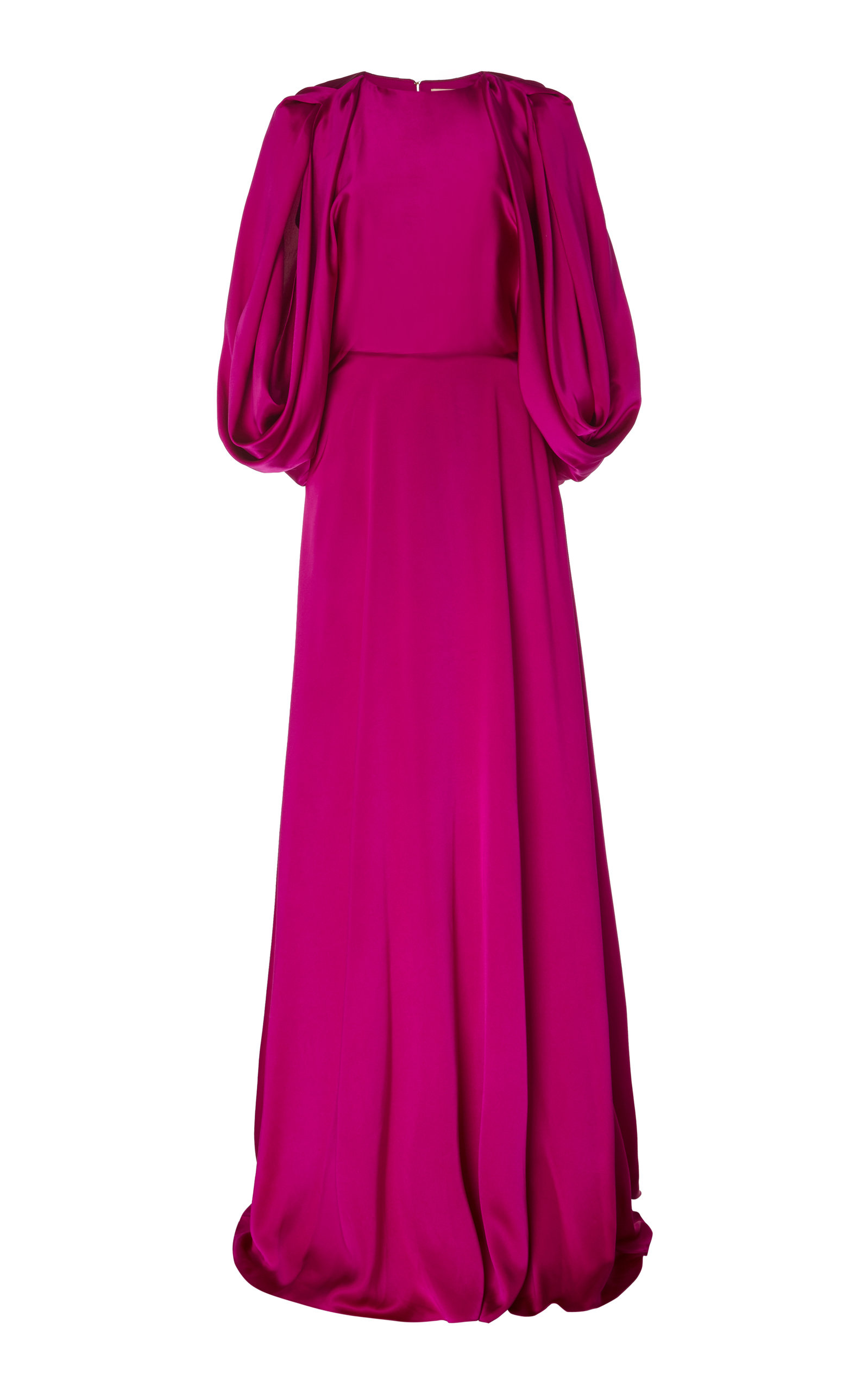 Buy ROKSANDA Milena Cape-Effect Silk-Satin Gown online, shop ROKSANDA at the best price