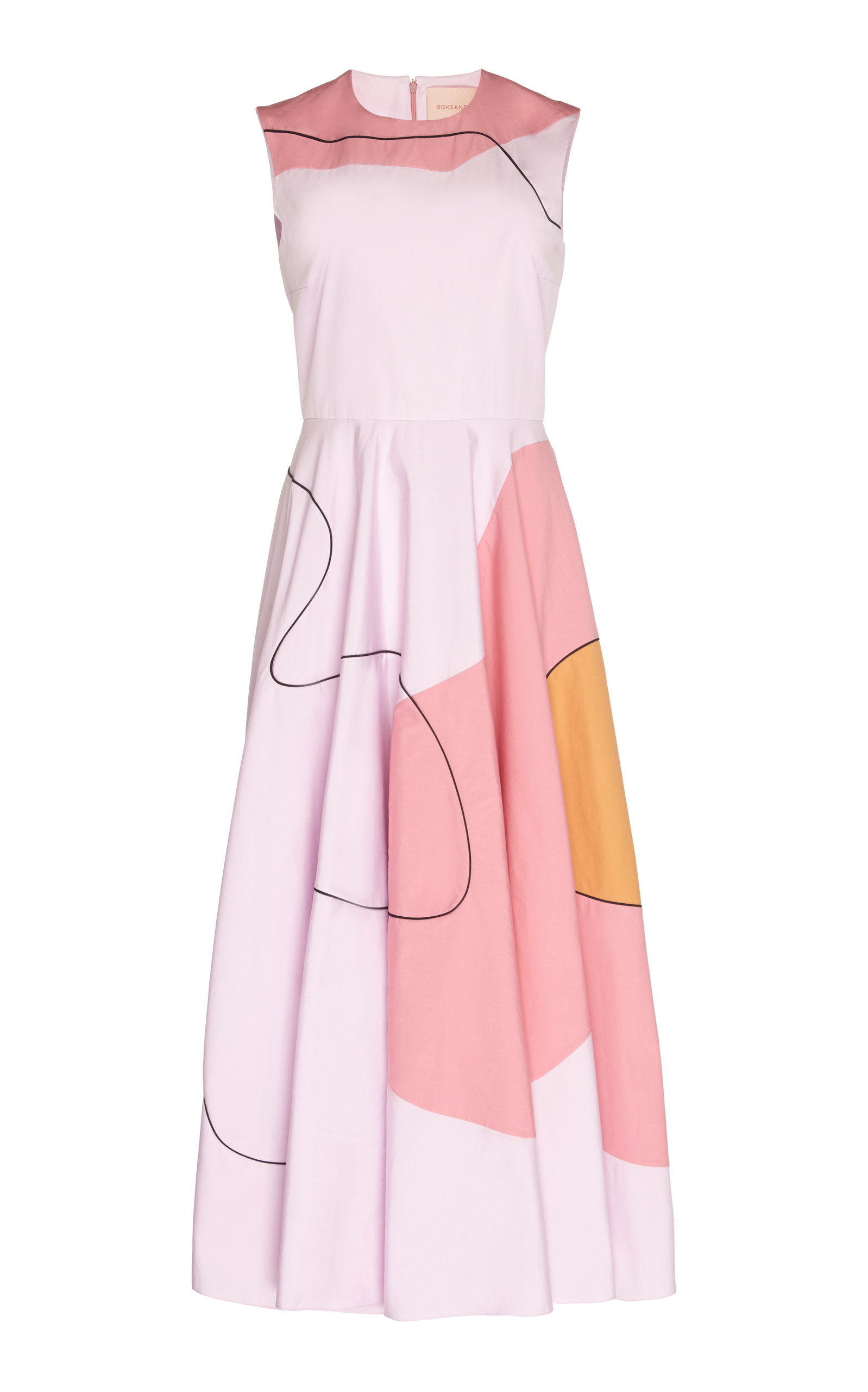 Buy ROKSANDA Flora Printed Cotton-Poplin Midi Dress online, shop ROKSANDA at the best price