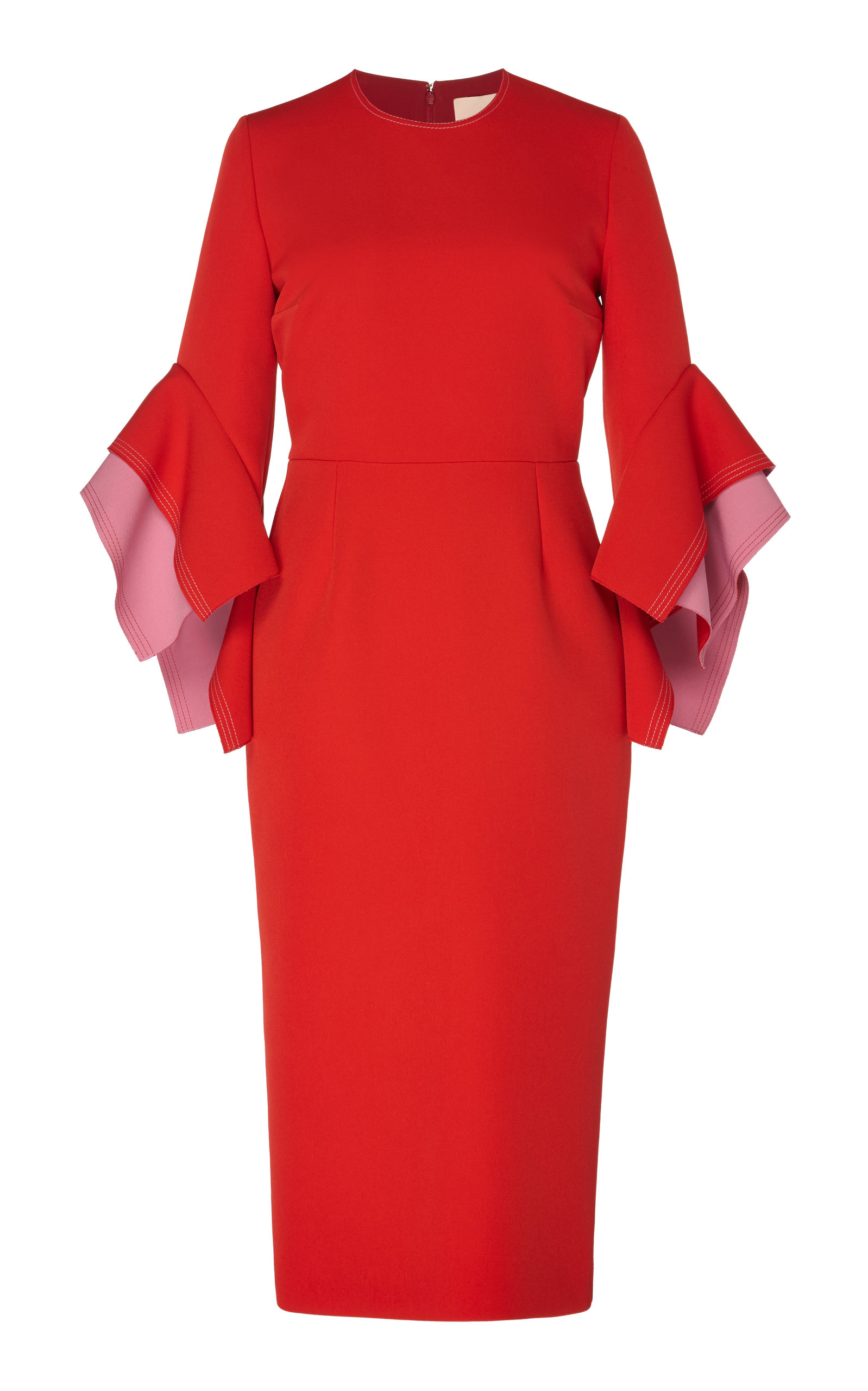 Buy ROKSANDA Ronda Two-Tone Crepe Midi Dress online, shop ROKSANDA at the best price