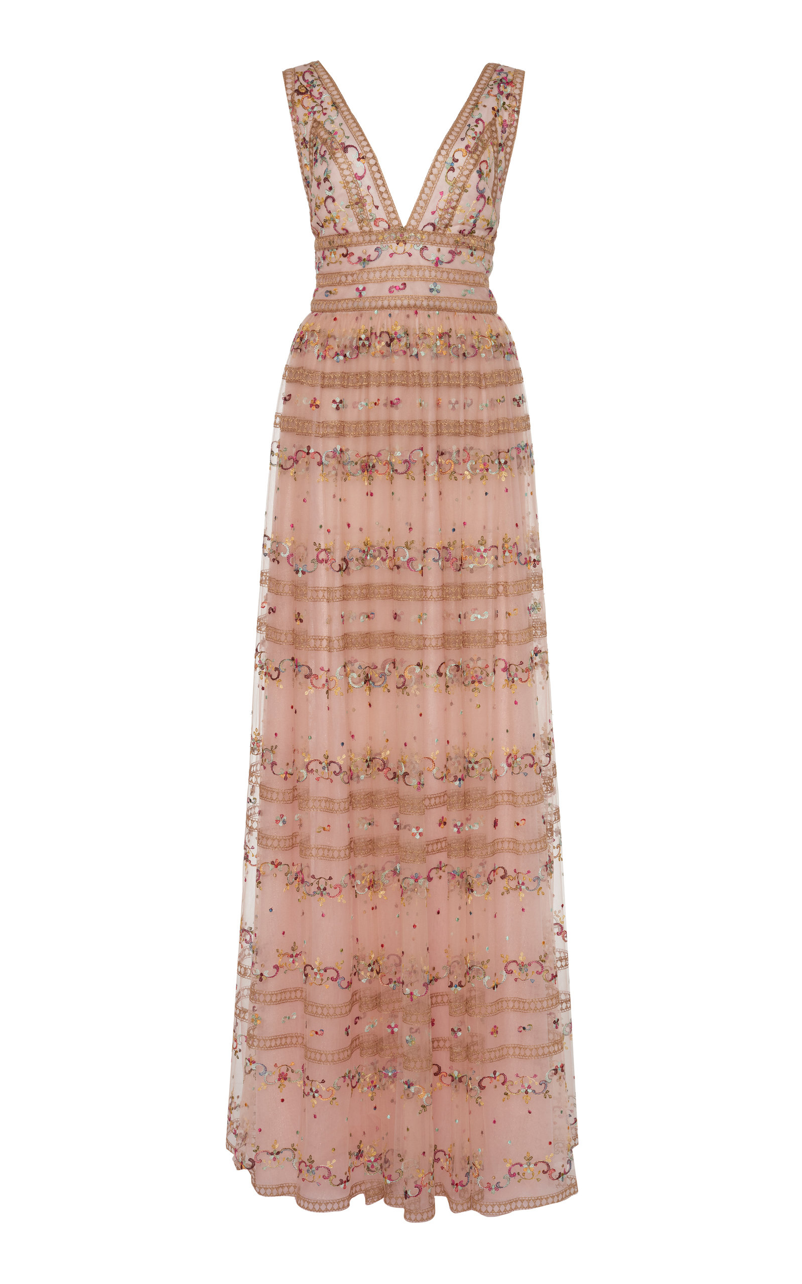Buy Costarellos Floral-Embroidered Tulle Dress online, shop Costarellos at the best price