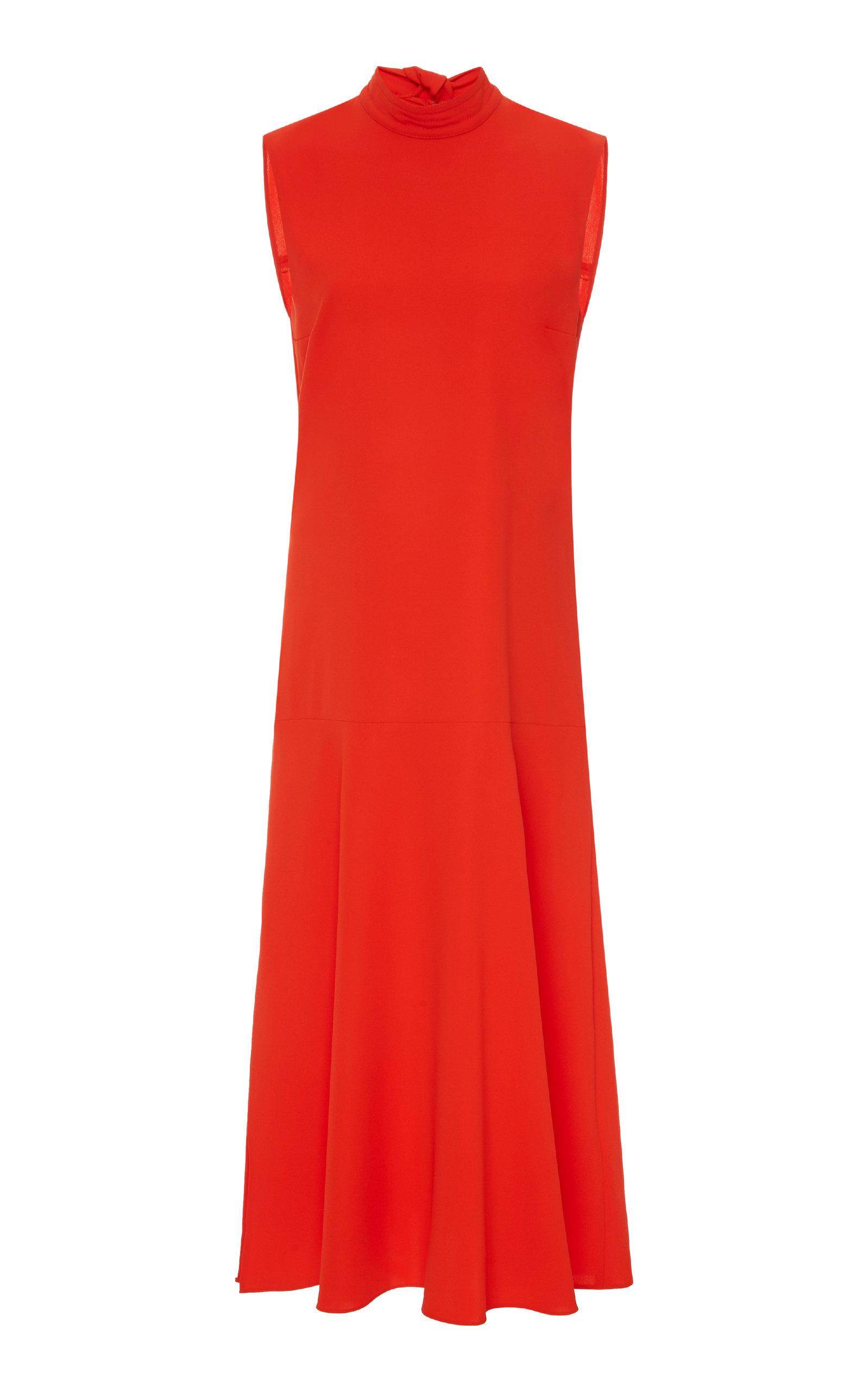 Buy Victoria Victoria Beckham Crepe Tie-Neck Midi Dress online, shop Victoria Victoria Beckham at the best price