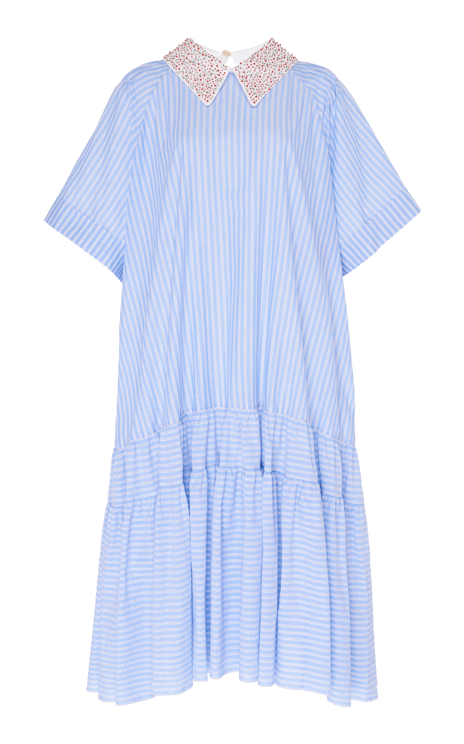 Buy Rochas Quarna Embroidered Woven Dress online, shop Rochas at the best price