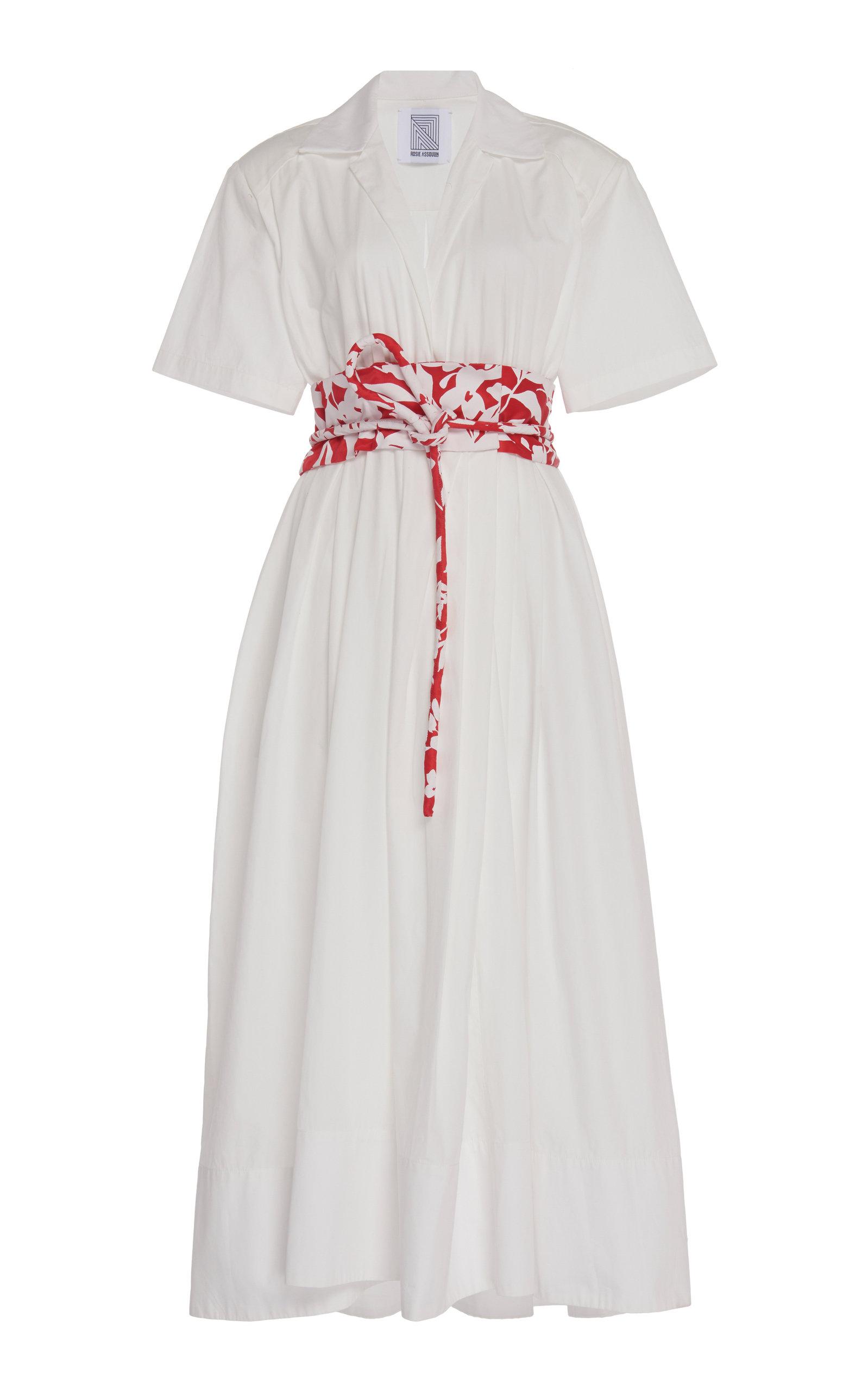 Buy Rosie Assoulin Belted Cotton-Poplin Shirt Dress online, shop Rosie Assoulin at the best price