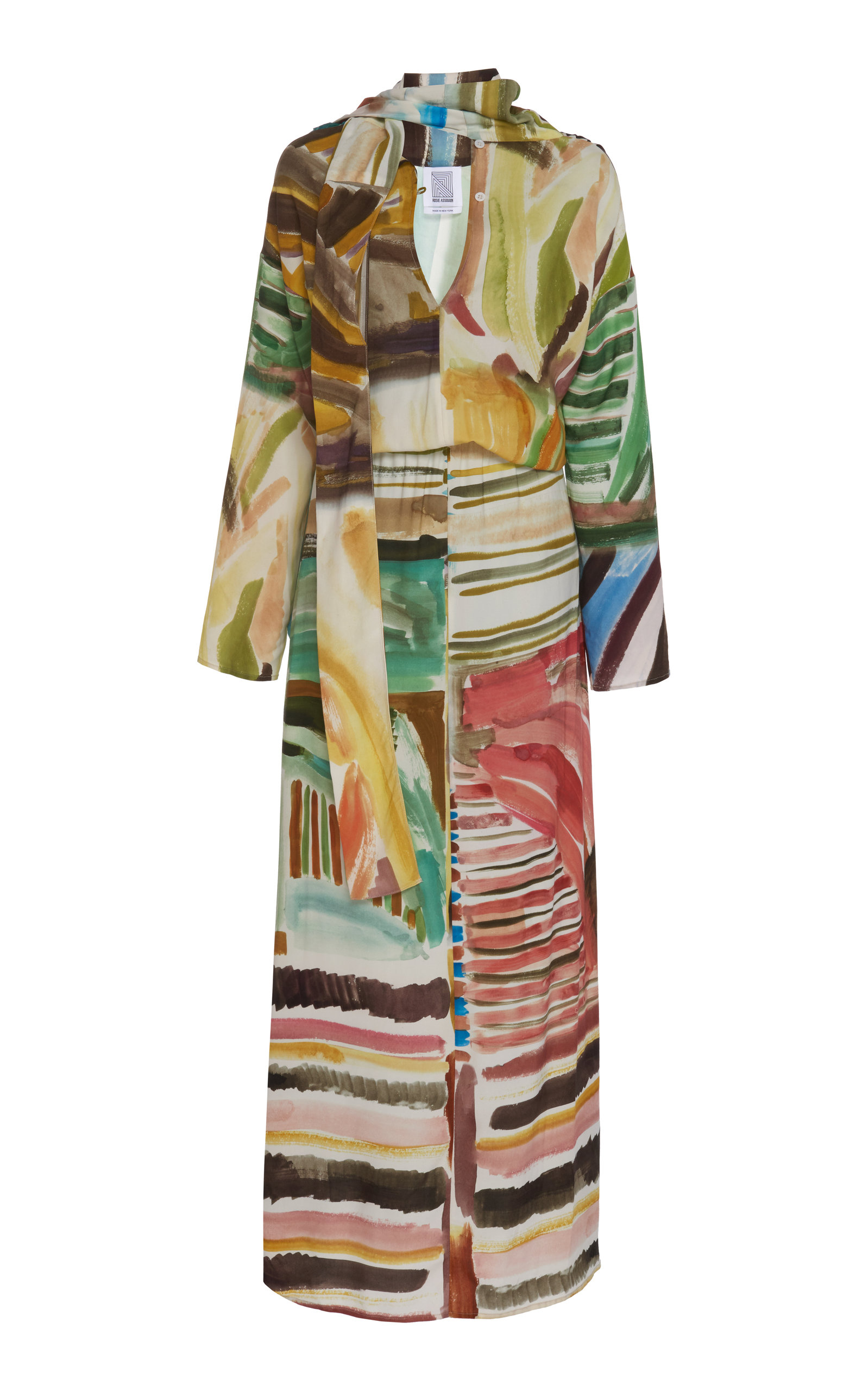 Buy Rosie Assoulin Multicolor Scarf-Accented Twill Dress online, shop Rosie Assoulin at the best price