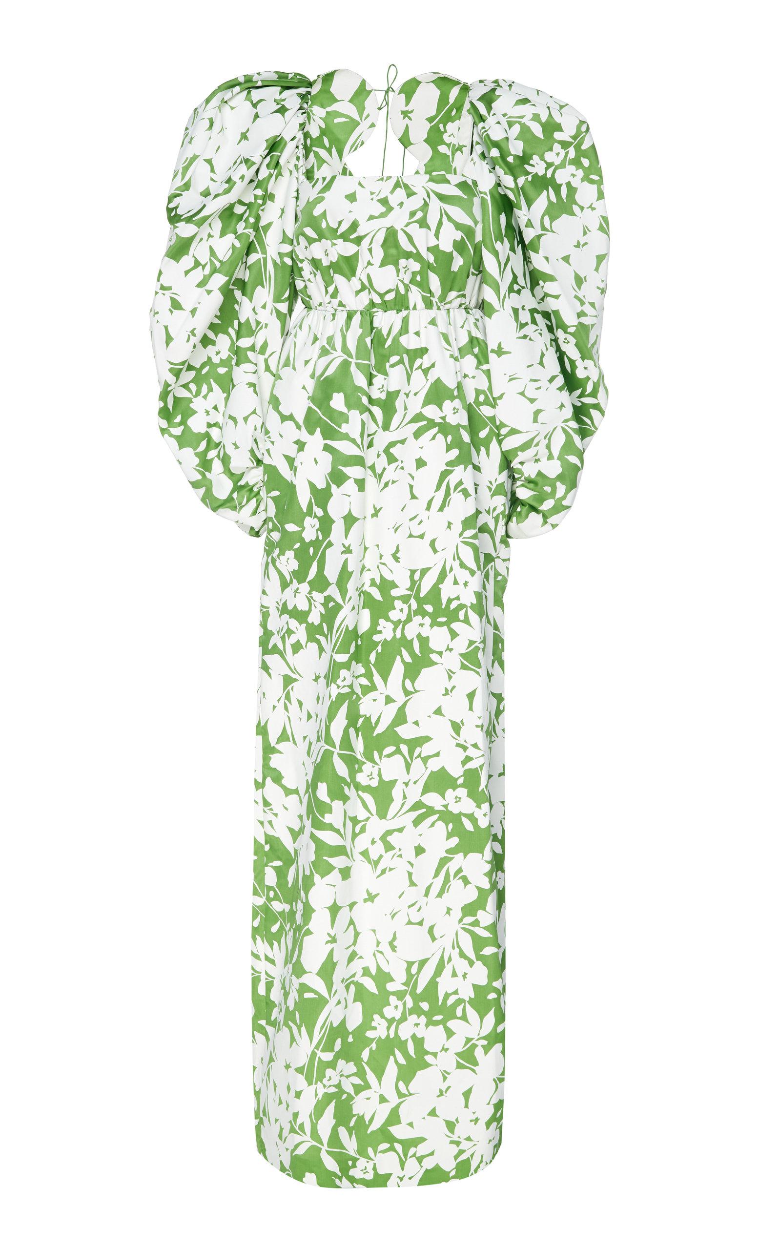 Buy Rosie Assoulin Printed Silk Maxi Dress online, shop Rosie Assoulin at the best price