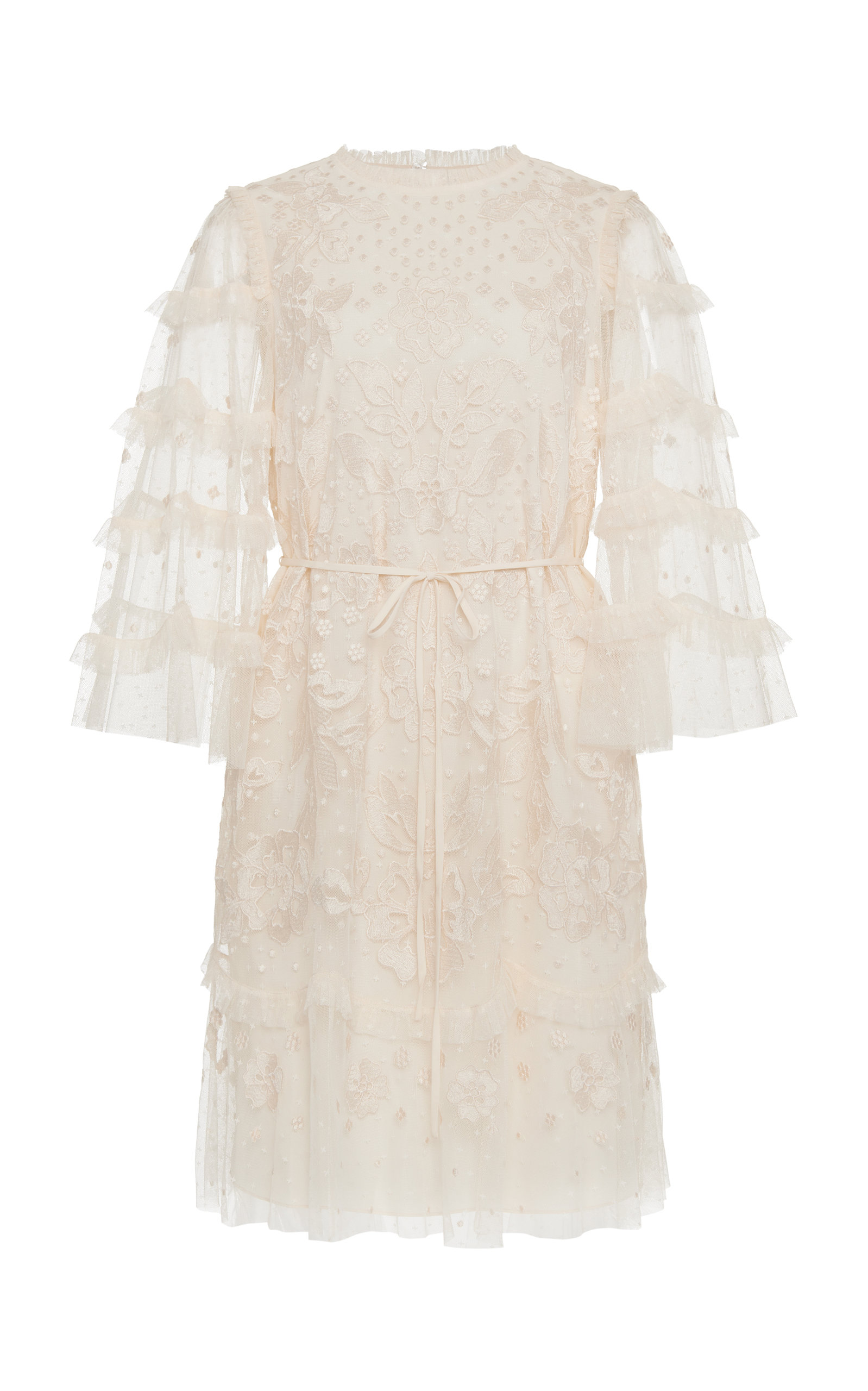Buy Needle & Thread Patchwork Lace Mini Dress online, shop Needle & Thread at the best price