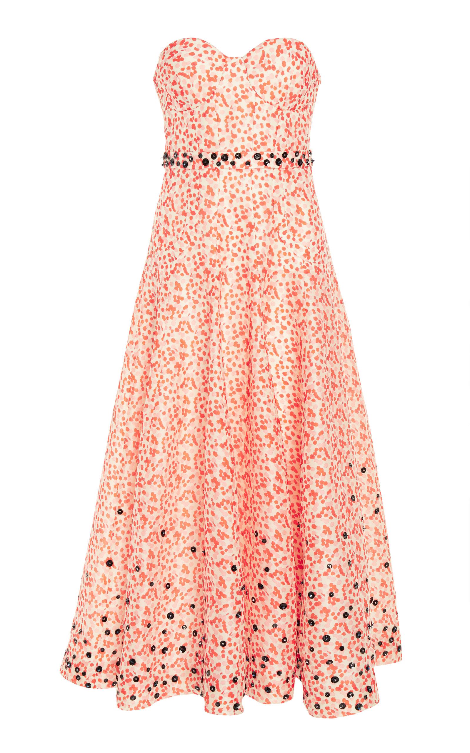 Buy DELPOZO Embroidered Organza Strapless Dress online, shop DELPOZO at the best price