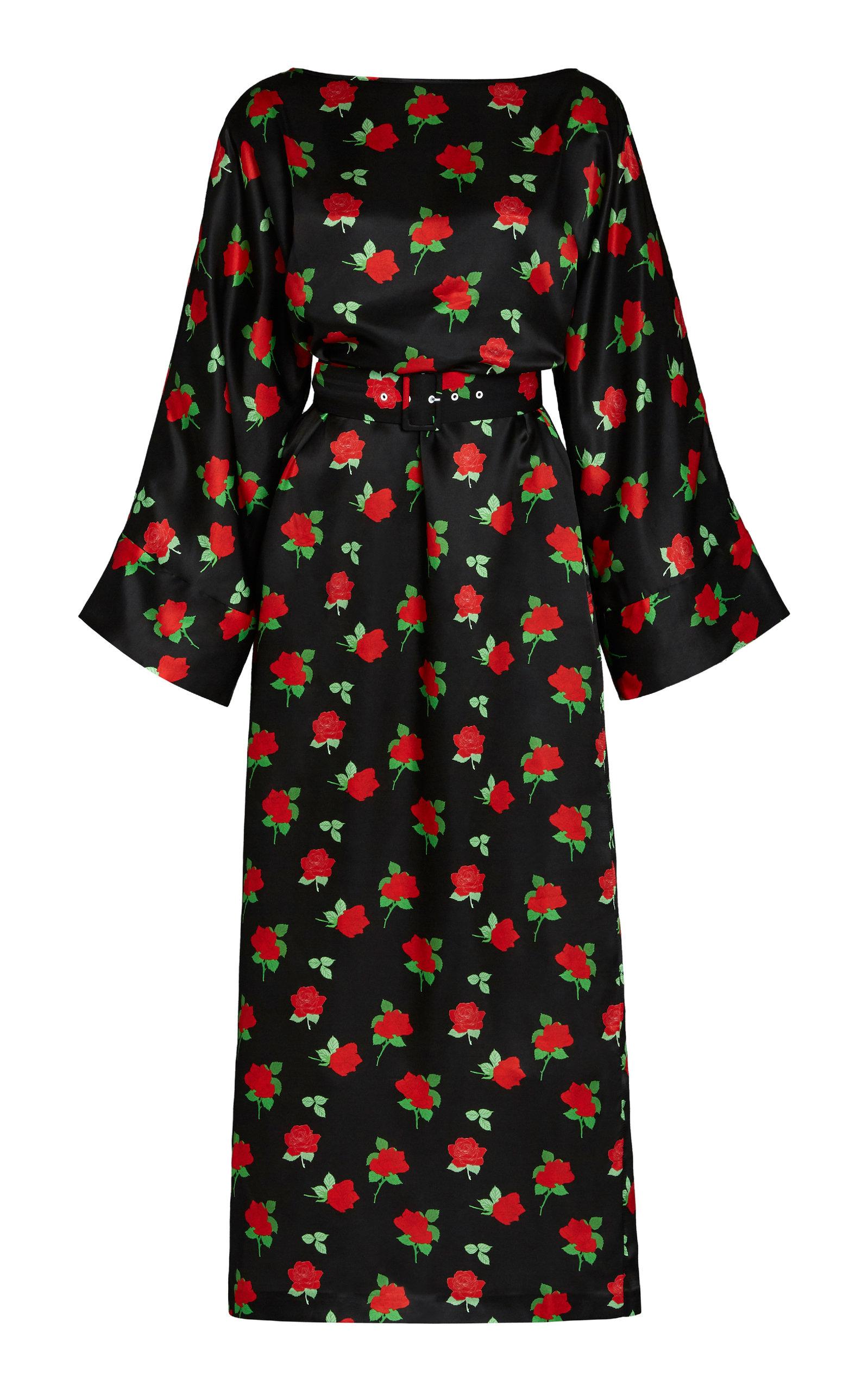 Buy Bernadette Antwerp Jackie Belted Silk-Blend Midi Dress online, shop Bernadette Antwerp at the best price